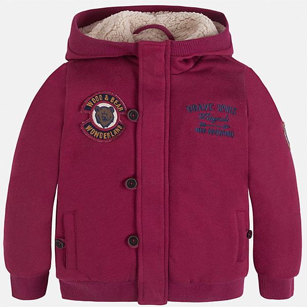 Куртка для мальчика MayoralДемисезонные куртки<br>Характеристики товара:<br><br>• цвет: бордовый<br>• состав ткани: 65% полиэстер, 35% хлопок<br>• подкладка: 100% полиэстер<br>• сезон: демисезон<br>• особенности куртки: на молнии<br>• капюшон: без меха, несъемный<br>• застежка: пуговица<br>• страна бренда: Испания<br>• страна изготовитель: Индия<br><br>Синяя детская куртка подойдет для прохладной погоды. Отличный способ обеспечить ребенку тепло и комфорт - надеть теплую куртку от Mayoral. Детская куртка сшита из приятного на ощупь материала. Куртка для мальчика Mayoral дополнена теплой подкладкой. <br><br>Куртку для мальчика Mayoral (Майорал) можно купить в нашем интернет-магазине.<br>Ширина мм: 356; Глубина мм: 10; Высота мм: 245; Вес г: 519; Цвет: бордовый; Возраст от месяцев: 72; Возраст до месяцев: 84; Пол: Мужской; Возраст: Детский; Размер: 122,92,134,128,116,110,104,98; SKU: 6932740;