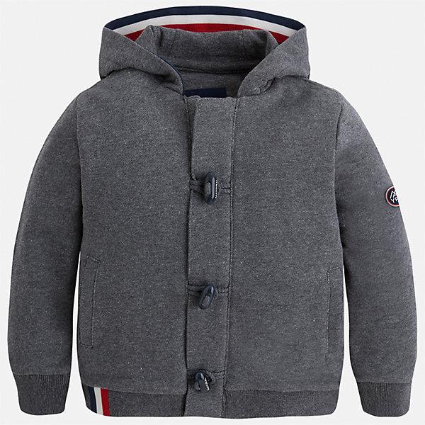 Куртка для мальчика MayoralТолстовки<br>Характеристики товара:<br><br>• цвет: серый<br>• состав ткани: 100% хлопок<br>• сезон: демисезон<br>• особенности толстовки: с манжетами, на молнии<br>• капюшон: без меха, несъемный<br>• застежка: молния, пуговицы<br>• страна бренда: Испания<br>• страна изготовитель: Индия<br><br>Стильная детская толстовка подойдет для прохладной погоды. Отличный способ обеспечить ребенку тепло и комфорт - надеть теплую толстовку от Mayoral. Детская толстовка сшита из приятного на ощупь материала. Толстовка для мальчика Mayoral дополнена теплым капюшоном. <br><br>Толстовку для мальчика Mayoral (Майорал) можно купить в нашем интернет-магазине.<br>Ширина мм: 356; Глубина мм: 10; Высота мм: 245; Вес г: 519; Цвет: серый; Возраст от месяцев: 18; Возраст до месяцев: 24; Пол: Мужской; Возраст: Детский; Размер: 92,134,128,122,116,110,104,98; SKU: 6932816;