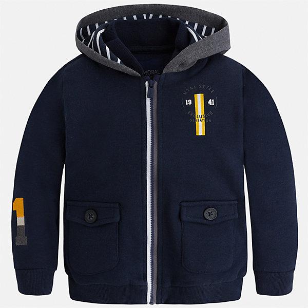 Куртка для мальчика MayoralТолстовки<br>Характеристики товара:<br><br>• цвет: темно-синий<br>• состав ткани: 100% хлопок<br>• сезон: демисезон<br>• особенности толстовки: с манжетами, на молнии<br>• капюшон: без меха, несъемный<br>• застежка: молния<br>• страна бренда: Испания<br>• страна изготовитель: Индия<br><br>Теплая детская толстовка подойдет для прохладной погоды. Отличный способ обеспечить ребенку тепло и комфорт - надеть теплую толстовку от Mayoral. Детская толстовка сшита из приятного на ощупь материала. Толстовка для мальчика Mayoral дополнена удобным капюшоном. <br><br>Толстовку для мальчика Mayoral (Майорал) можно купить в нашем интернет-магазине.<br><br>Ширина мм: 356<br>Глубина мм: 10<br>Высота мм: 245<br>Вес г: 519<br>Цвет: темно-синий<br>Возраст от месяцев: 18<br>Возраст до месяцев: 24<br>Пол: Мужской<br>Возраст: Детский<br>Размер: 92,134,128,122,116,110,104,98<br>SKU: 6932843