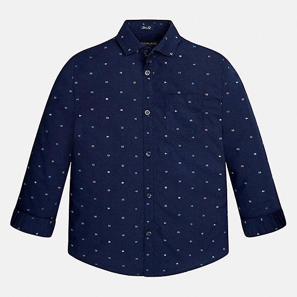 Рубашка Mayoral для мальчикаБлузки и рубашки<br>Характеристики товара:<br><br>• цвет: синий<br>• состав ткани: 100% хлопок<br>• сезон: демисезон<br>• особенности модели: школьная<br>• застежка: пуговицы<br>• длинные рукава<br>• страна бренда: Испания<br>• страна изготовитель: Индия<br><br>Такая рубашка с длинным рукавом для мальчика Mayoral удобно сидит по фигуре. Стильная детская рубашка сделана из натуральной хлопковой ткани. Отличный способ обеспечить ребенку комфорт и аккуратный внешний вид - надеть детскую рубашку от Mayoral. Детская рубашка с длинным рукавом сшита из приятного на ощупь материала. <br><br>Рубашку для мальчика Mayoral (Майорал) можно купить в нашем интернет-магазине.<br><br>Ширина мм: 174<br>Глубина мм: 10<br>Высота мм: 169<br>Вес г: 157<br>Цвет: синий<br>Возраст от месяцев: 108<br>Возраст до месяцев: 120<br>Пол: Мужской<br>Возраст: Детский<br>Размер: 170,164,158,152,140,128/134<br>SKU: 6933535