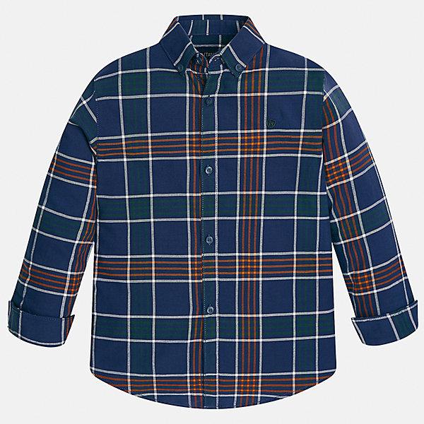 Рубашка для мальчика MayoralБлузки и рубашки<br>Характеристики товара:<br><br>• цвет: синий<br>• состав ткани: 100% хлопок<br>• сезон: демисезон<br>• особенности модели: школьная<br>• застежка: пуговицы<br>• длинные рукава<br>• страна бренда: Испания<br>• страна изготовитель: Индия<br><br>Хлопковая детская рубашка сделана из дышащего приятного на ощупь материала. Благодаря продуманному крою детской рубашки создаются комфортные условия для тела. Рубашка с длинным рукавом для мальчика отличается стильным продуманным дизайном.<br><br>Рубашку для мальчика Mayoral (Майорал) можно купить в нашем интернет-магазине.<br>Ширина мм: 174; Глубина мм: 10; Высота мм: 169; Вес г: 157; Цвет: синий; Возраст от месяцев: 96; Возраст до месяцев: 108; Пол: Мужской; Возраст: Детский; Размер: 128/134,170,164,158,152,140; SKU: 6933549;