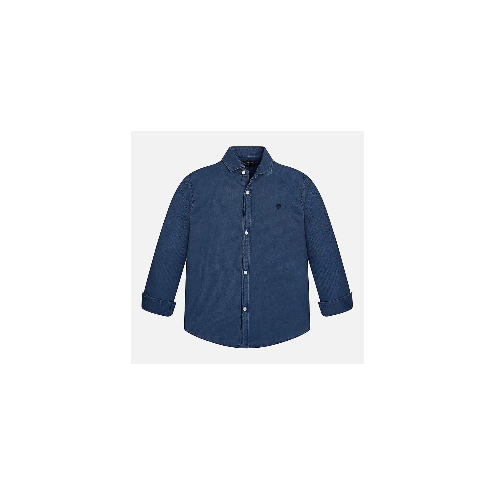 Рубашка Mayoral для мальчикаБлузки и рубашки<br>Характеристики товара:<br><br>• цвет: синий<br>• состав ткани: 100% хлопок<br>• сезон: демисезон<br>• особенности модели: школьная<br>• застежка: пуговицы<br>• длинные рукава<br>• страна бренда: Испания<br>• страна изготовитель: Индия<br><br>Синяя детская рубашка сделана из дышащего приятного на ощупь материала. Благодаря продуманному крою детской рубашки создаются комфортные условия для тела. Рубашка с длинным рукавом для мальчика отличается стильным продуманным дизайном.<br><br>Рубашку для мальчика Mayoral (Майорал) можно купить в нашем интернет-магазине.<br><br>Ширина мм: 174<br>Глубина мм: 10<br>Высота мм: 169<br>Вес г: 157<br>Цвет: голубой<br>Возраст от месяцев: 156<br>Возраст до месяцев: 168<br>Пол: Мужской<br>Возраст: Детский<br>Размер: 164,170,128/134,140,152,158<br>SKU: 6933570