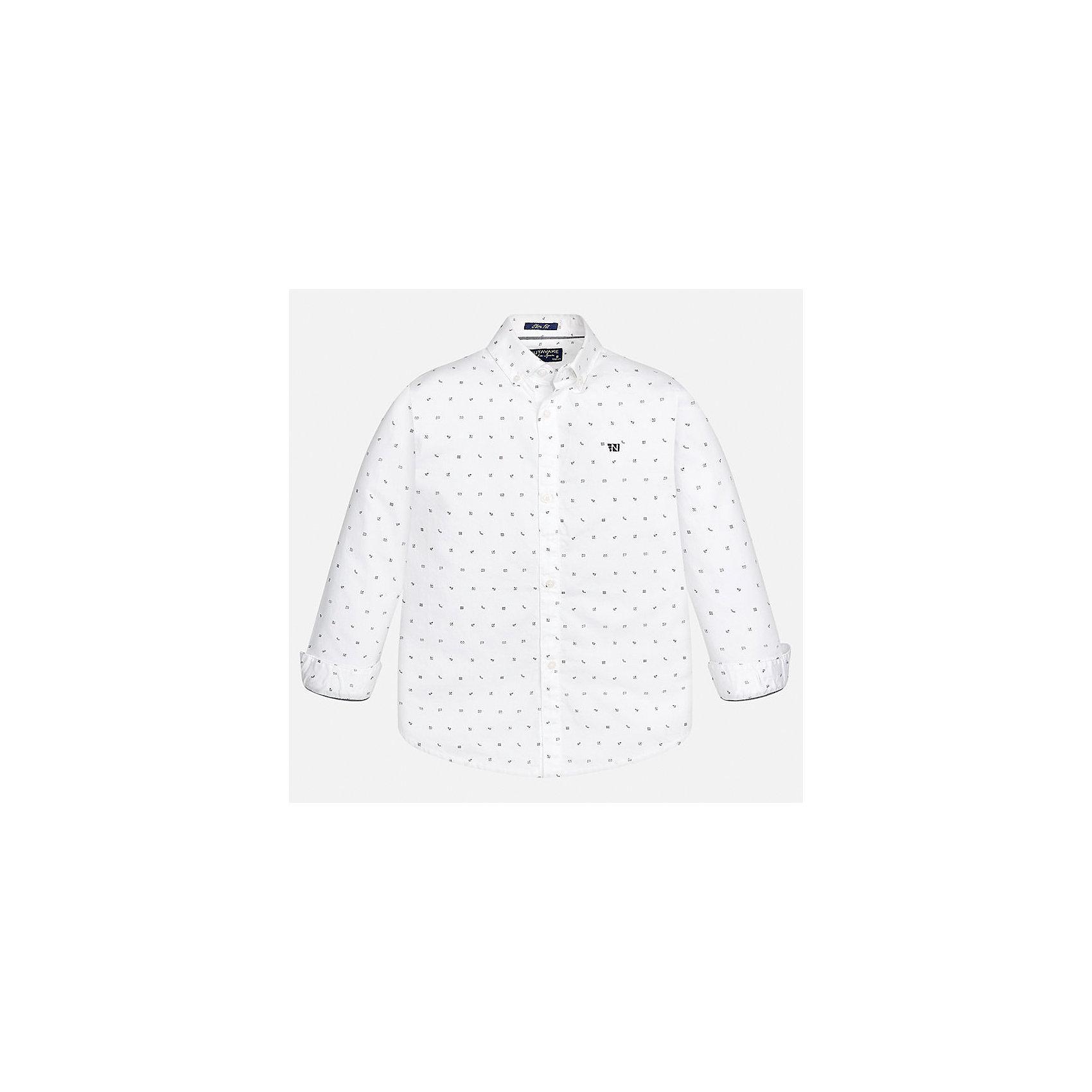 Рубашка для мальчика MayoralБлузки и рубашки<br>Характеристики товара:<br><br>• цвет: белый<br>• состав ткани: 100% хлопок<br>• сезон: демисезон<br>• особенности модели: школьная<br>• застежка: пуговицы<br>• длинные рукава<br>• страна бренда: Испания<br>• страна изготовитель: Индия<br><br>Белая детская рубашка сделана из дышащего приятного на ощупь материала. Благодаря продуманному крою детской рубашки создаются комфортные условия для тела. Рубашка с длинным рукавом для мальчика отличается стильным продуманным дизайном.<br><br>Рубашку для мальчика Mayoral (Майорал) можно купить в нашем интернет-магазине.<br><br>Ширина мм: 174<br>Глубина мм: 10<br>Высота мм: 169<br>Вес г: 157<br>Цвет: белый<br>Возраст от месяцев: 168<br>Возраст до месяцев: 180<br>Пол: Мужской<br>Возраст: Детский<br>Размер: 170,128/134,140,152,158,164<br>SKU: 6933612
