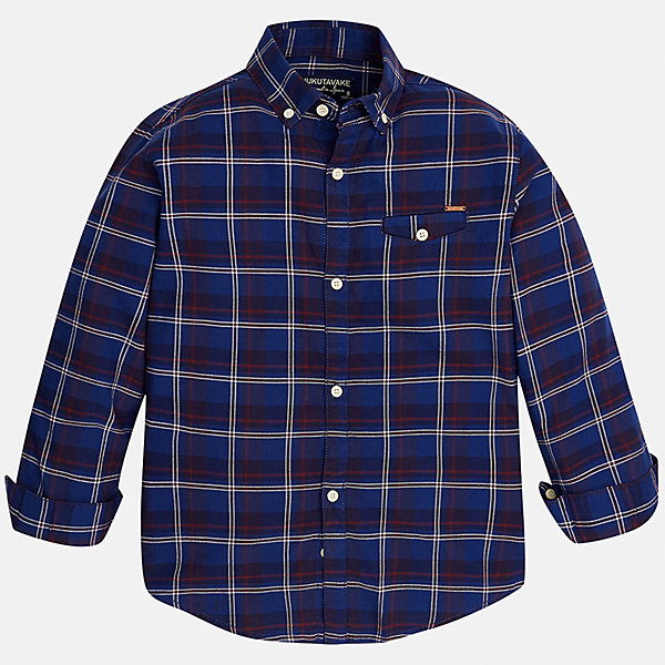 Рубашка для мальчика MayoralБлузки и рубашки<br>Характеристики товара:<br><br>• цвет: синий<br>• состав ткани: 100% хлопок<br>• сезон: демисезон<br>• особенности модели: школьная<br>• застежка: пуговицы<br>• длинные рукава<br>• страна бренда: Испания<br>• страна изготовитель: Индия<br><br>Клетчатая рубашка с длинным рукавом для мальчика Mayoral удобно сидит по фигуре. Легкая детская рубашка сделана из натуральной хлопковой ткани. Отличный способ обеспечить ребенку комфорт и аккуратный внешний вид - надеть детскую рубашку от Mayoral. Детская рубашка с длинным рукавом сшита из приятного на ощупь материала. <br><br>Рубашку для мальчика Mayoral (Майорал) можно купить в нашем интернет-магазине.<br>Ширина мм: 174; Глубина мм: 10; Высота мм: 169; Вес г: 157; Цвет: синий; Возраст от месяцев: 96; Возраст до месяцев: 108; Пол: Мужской; Возраст: Детский; Размер: 128/134,170,164,158,152,140; SKU: 6933619;