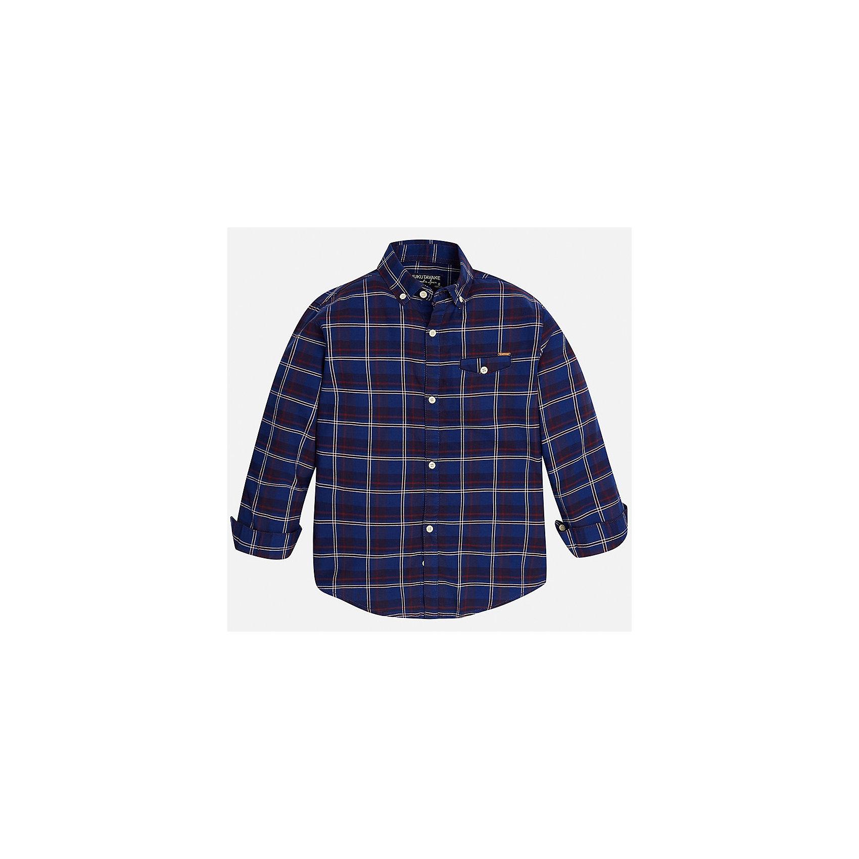 Рубашка для мальчика MayoralБлузки и рубашки<br>Характеристики товара:<br><br>• цвет: синий<br>• состав ткани: 100% хлопок<br>• сезон: демисезон<br>• особенности модели: школьная<br>• застежка: пуговицы<br>• длинные рукава<br>• страна бренда: Испания<br>• страна изготовитель: Индия<br><br>Клетчатая рубашка с длинным рукавом для мальчика Mayoral удобно сидит по фигуре. Легкая детская рубашка сделана из натуральной хлопковой ткани. Отличный способ обеспечить ребенку комфорт и аккуратный внешний вид - надеть детскую рубашку от Mayoral. Детская рубашка с длинным рукавом сшита из приятного на ощупь материала. <br><br>Рубашку для мальчика Mayoral (Майорал) можно купить в нашем интернет-магазине.<br><br>Ширина мм: 174<br>Глубина мм: 10<br>Высота мм: 169<br>Вес г: 157<br>Цвет: синий<br>Возраст от месяцев: 168<br>Возраст до месяцев: 180<br>Пол: Мужской<br>Возраст: Детский<br>Размер: 170,128/134,140,152,158,164<br>SKU: 6933619
