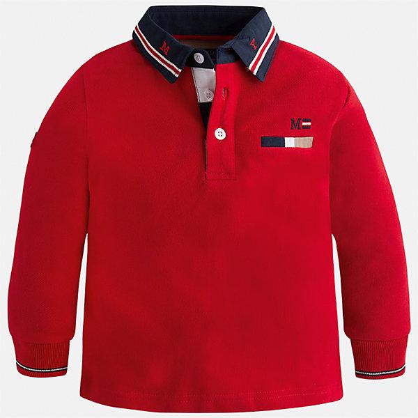 Футболка-поло с длинным рукавом Mayoral для мальчикаФутболки с длинным рукавом<br>Характеристики товара:<br><br>• цвет: красный<br>• состав ткани: 100% хлопок<br>• сезон: демисезон<br>• особенности модели: отложной воротник<br>• застежка: пуговицы<br>• длинные рукава<br>• страна бренда: Испания<br>• страна изготовитель: Индия<br><br>Детская рубашка-поло с длинным рукавом сделана из дышащего приятного на ощупь материала. Благодаря продуманному крою детской футболки-поло создаются комфортные условия для тела. рубашка-поло с длинным рукавом для мальчика отличается стильным продуманным дизайном.<br><br>Рубашку-поло с длинным рукавом для мальчика Mayoral (Майорал) можно купить в нашем интернет-магазине.<br><br>Ширина мм: 230<br>Глубина мм: 40<br>Высота мм: 220<br>Вес г: 250<br>Цвет: красный<br>Возраст от месяцев: 18<br>Возраст до месяцев: 24<br>Пол: Мужской<br>Возраст: Детский<br>Размер: 92,134,128,122,116,110,104,98<br>SKU: 6933871