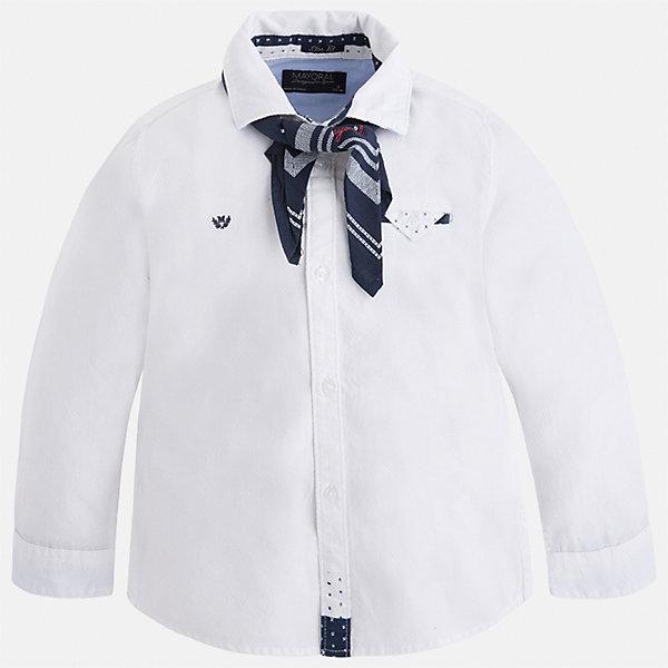 Рубашка Mayoral для мальчикаБлузки и рубашки<br>Характеристики товара:<br><br>• цвет: белый<br>• состав ткани: 100% хлопок<br>• сезон: демисезон<br>• особенности модели: школьная<br>• застежка: пуговицы<br>• длинные рукава<br>• страна бренда: Испания<br>• страна изготовитель: Индия<br><br>Хлопковая белая рубашка с длинным рукавом для мальчика от Майорал поможет обеспечить ребенку комфорт. Детская рубашка отличается стильным и продуманным дизайном. В рубашке для мальчика от испанской компании Майорал ребенок будет выглядеть модно, а чувствовать себя - комфортно. <br><br>Рубашку для мальчика Mayoral (Майорал) можно купить в нашем интернет-магазине.<br>Ширина мм: 174; Глубина мм: 10; Высота мм: 169; Вес г: 157; Цвет: белый; Возраст от месяцев: 24; Возраст до месяцев: 36; Пол: Мужской; Возраст: Детский; Размер: 122,116,110,104,98,92,134,128; SKU: 6934012;