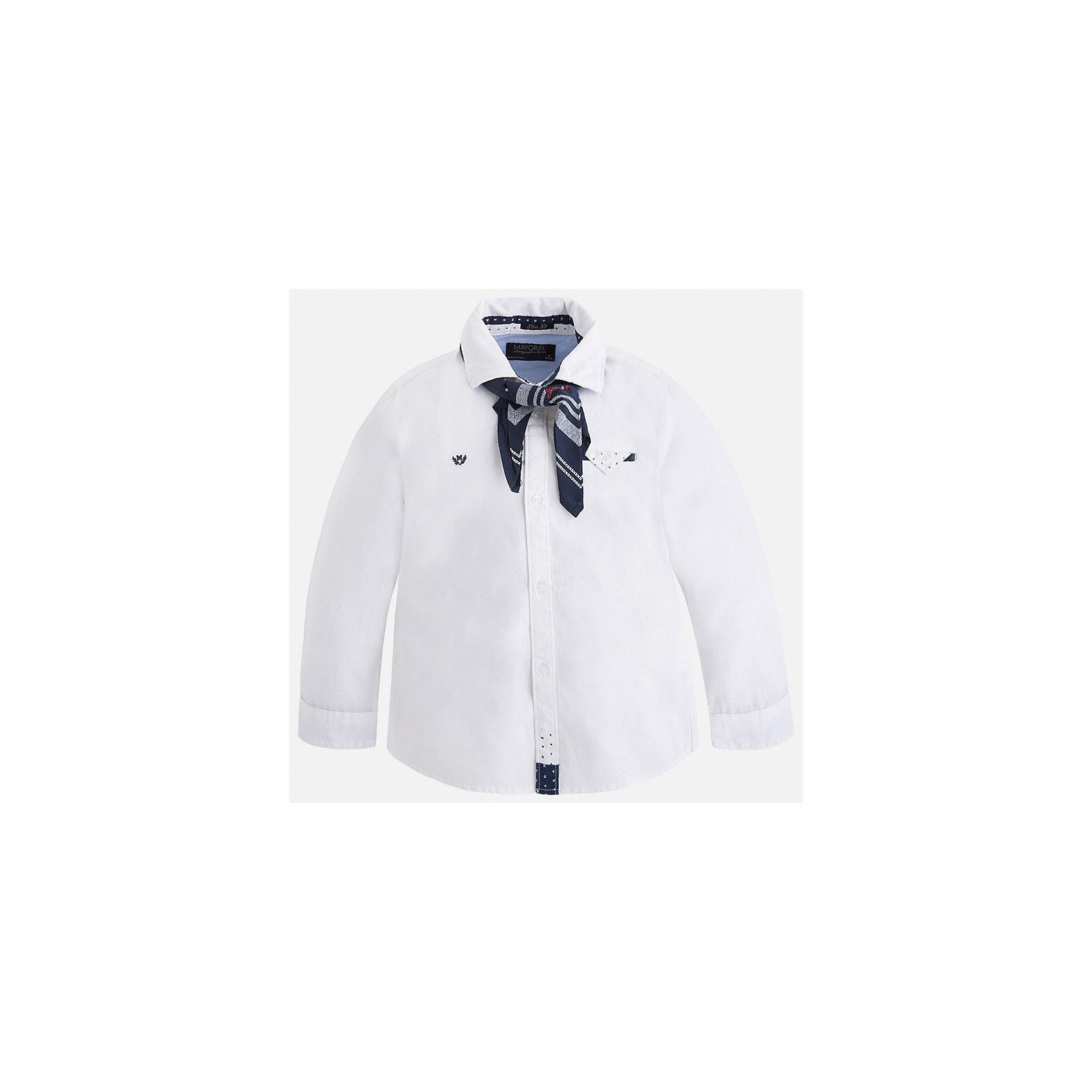 Рубашка Mayoral для мальчикаБлузки и рубашки<br>Характеристики товара:<br><br>• цвет: белый<br>• состав ткани: 100% хлопок<br>• сезон: демисезон<br>• особенности модели: школьная<br>• застежка: пуговицы<br>• длинные рукава<br>• страна бренда: Испания<br>• страна изготовитель: Индия<br><br>Хлопковая белая рубашка с длинным рукавом для мальчика от Майорал поможет обеспечить ребенку комфорт. Детская рубашка отличается стильным и продуманным дизайном. В рубашке для мальчика от испанской компании Майорал ребенок будет выглядеть модно, а чувствовать себя - комфортно. <br><br>Рубашку для мальчика Mayoral (Майорал) можно купить в нашем интернет-магазине.<br><br>Ширина мм: 174<br>Глубина мм: 10<br>Высота мм: 169<br>Вес г: 157<br>Цвет: белый<br>Возраст от месяцев: 18<br>Возраст до месяцев: 24<br>Пол: Мужской<br>Возраст: Детский<br>Размер: 92,134,128,122,116,110,104,98<br>SKU: 6934012