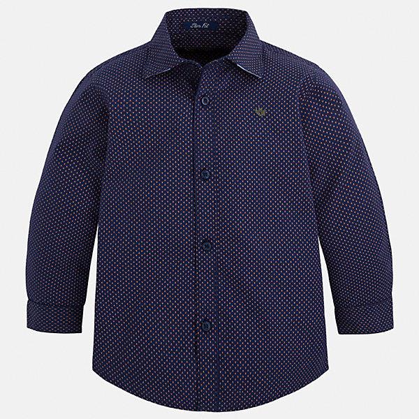 Рубашка Mayoral для мальчикаБлузки и рубашки<br>Характеристики товара:<br><br>• цвет: синий<br>• состав ткани: 100% хлопок<br>• сезон: демисезон<br>• особенности модели: школьная<br>• застежка: пуговицы<br>• длинные рукава<br>• страна бренда: Испания<br>• страна изготовитель: Индия<br><br>Классическая рубашка с длинным рукавом для мальчика от Майорал поможет обеспечить ребенку комфорт. Детская рубашка отличается стильным и продуманным дизайном. В рубашке для мальчика от испанской компании Майорал ребенок будет выглядеть модно, а чувствовать себя - комфортно. <br><br>Рубашку для мальчика Mayoral (Майорал) можно купить в нашем интернет-магазине.<br><br>Ширина мм: 174<br>Глубина мм: 10<br>Высота мм: 169<br>Вес г: 157<br>Цвет: синий<br>Возраст от месяцев: 84<br>Возраст до месяцев: 96<br>Пол: Мужской<br>Возраст: Детский<br>Размер: 98,92,134,128,122,116,110,104<br>SKU: 6934039