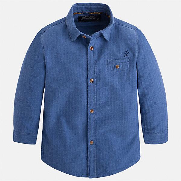 Рубашка Mayoral для мальчикаБлузки и рубашки<br>Характеристики товара:<br><br>• цвет: синий<br>• состав ткани: 100% хлопок<br>• сезон: демисезон<br>• особенности модели: школьная<br>• застежка: пуговицы<br>• длинные рукава<br>• страна бренда: Испания<br>• страна изготовитель: Индия<br><br>Удобная детская рубашка сделана из дышащего приятного на ощупь материала. Благодаря продуманному крою детской рубашки создаются комфортные условия для тела. Рубашка с длинным рукавом для мальчика отличается стильным продуманным дизайном.<br><br>Рубашку для мальчика Mayoral (Майорал) можно купить в нашем интернет-магазине.<br>Ширина мм: 174; Глубина мм: 10; Высота мм: 169; Вес г: 157; Цвет: синий; Возраст от месяцев: 18; Возраст до месяцев: 24; Пол: Мужской; Возраст: Детский; Размер: 92,134,98,104,110,116,122,128; SKU: 6934048;