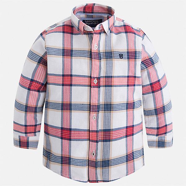 Рубашка Mayoral для мальчикаБлузки и рубашки<br>Характеристики товара:<br><br>• цвет: белый/красный/синий<br>• состав ткани: 100% хлопок<br>• сезон: демисезон<br>• особенности модели: школьная<br>• застежка: пуговицы<br>• длинные рукава<br>• страна бренда: Испания<br>• страна изготовитель: Индия<br><br>Клетчатая детская рубашка сделана из дышащего приятного на ощупь материала. Благодаря продуманному крою детской рубашки создаются комфортные условия для тела. Рубашка с длинным рукавом для мальчика отличается стильным продуманным дизайном.<br><br>Рубашку для мальчика Mayoral (Майорал) можно купить в нашем интернет-магазине.<br><br>Ширина мм: 174<br>Глубина мм: 10<br>Высота мм: 169<br>Вес г: 157<br>Цвет: красный/белый<br>Возраст от месяцев: 18<br>Возраст до месяцев: 24<br>Пол: Мужской<br>Возраст: Детский<br>Размер: 92,134,128,122,116,110,104,98<br>SKU: 6934075