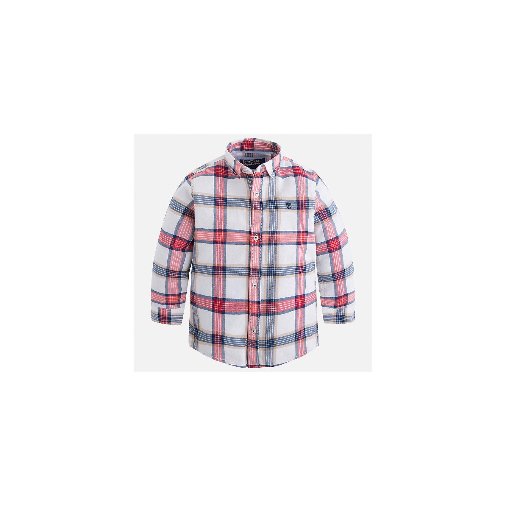 Рубашка Mayoral для мальчикаБлузки и рубашки<br>Характеристики товара:<br><br>• цвет: бежевый<br>• состав ткани: 100% хлопок<br>• сезон: демисезон<br>• особенности модели: школьная<br>• застежка: пуговицы<br>• длинные рукава<br>• страна бренда: Испания<br>• страна изготовитель: Индия<br><br>Клетчатая детская рубашка сделана из дышащего приятного на ощупь материала. Благодаря продуманному крою детской рубашки создаются комфортные условия для тела. Рубашка с длинным рукавом для мальчика отличается стильным продуманным дизайном.<br><br>Рубашку для мальчика Mayoral (Майорал) можно купить в нашем интернет-магазине.<br><br>Ширина мм: 174<br>Глубина мм: 10<br>Высота мм: 169<br>Вес г: 157<br>Цвет: бежевый<br>Возраст от месяцев: 72<br>Возраст до месяцев: 84<br>Пол: Мужской<br>Возраст: Детский<br>Размер: 122,128,134,92,98,104,110,116<br>SKU: 6934075