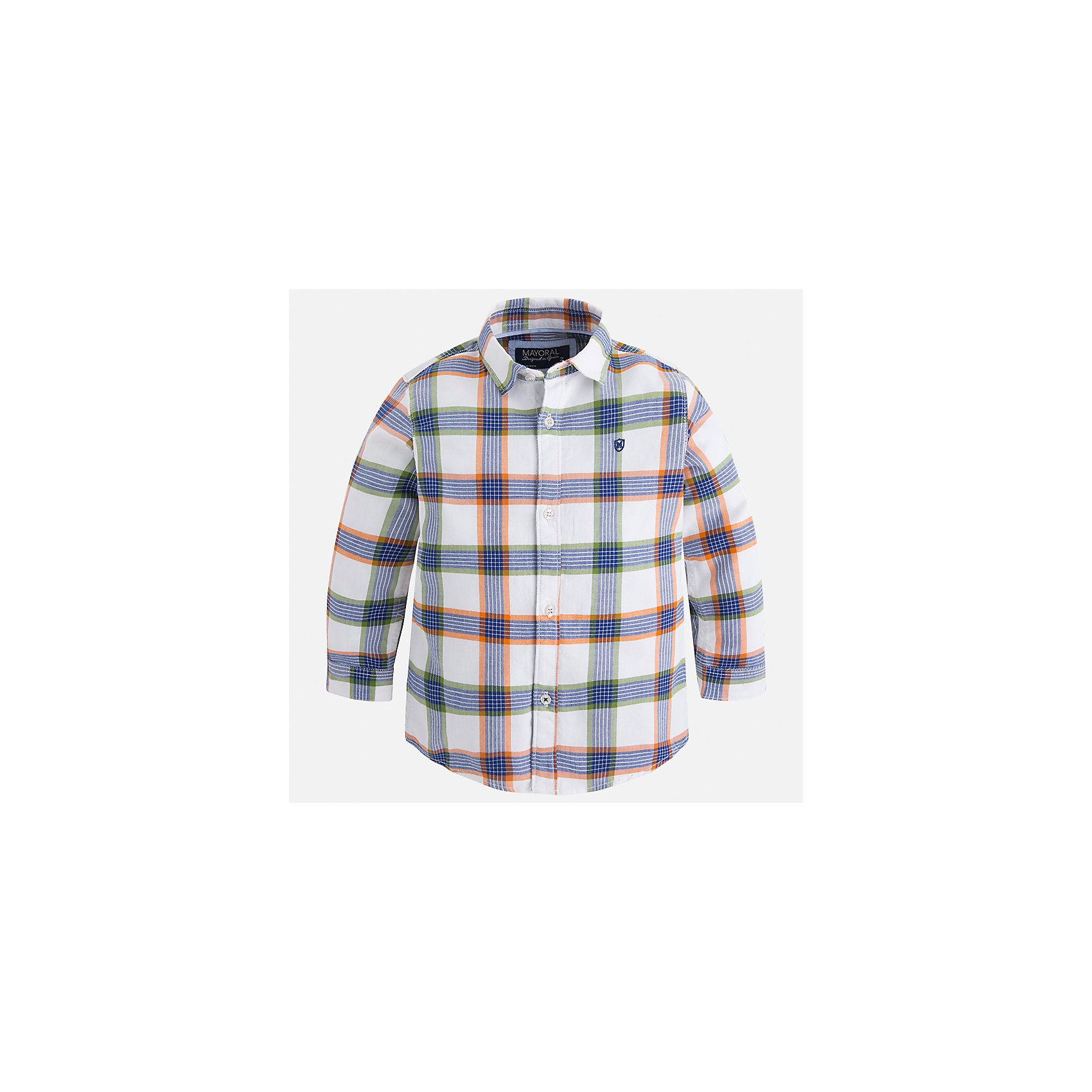 Рубашка Mayoral для мальчикаБлузки и рубашки<br>Характеристики товара:<br><br>• цвет: синий<br>• состав ткани: 100% хлопок<br>• сезон: демисезон<br>• особенности модели: школьная<br>• застежка: пуговицы<br>• длинные рукава<br>• страна бренда: Испания<br>• страна изготовитель: Индия<br><br>Стильная клетчатая рубашка с длинным рукавом для мальчика Mayoral удобно сидит по фигуре. Стильная детская рубашка сделана из натуральной хлопковой ткани. Отличный способ обеспечить ребенку комфорт и аккуратный внешний вид - надеть детскую рубашку от Mayoral. Детская рубашка с длинным рукавом сшита из приятного на ощупь материала. <br><br>Рубашку для мальчика Mayoral (Майорал) можно купить в нашем интернет-магазине.<br><br>Ширина мм: 174<br>Глубина мм: 10<br>Высота мм: 169<br>Вес г: 157<br>Цвет: синий<br>Возраст от месяцев: 24<br>Возраст до месяцев: 36<br>Пол: Мужской<br>Возраст: Детский<br>Размер: 98,104,110,116,122,128,134,92<br>SKU: 6934084