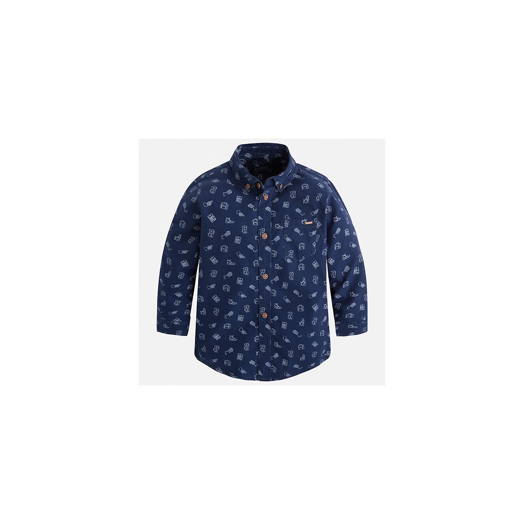 Рубашка Mayoral для мальчикаБлузки и рубашки<br>Характеристики товара:<br><br>• цвет: синий<br>• состав ткани: 100% хлопок<br>• сезон: демисезон<br>• особенности модели: школьная<br>• застежка: пуговицы<br>• длинные рукава<br>• страна бренда: Испания<br>• страна изготовитель: Индия<br><br>Такая рубашка с длинным рукавом для мальчика от Майорал поможет обеспечить ребенку комфорт. Детская рубашка отличается стильным и продуманным дизайном. В рубашке для мальчика от испанской компании Майорал ребенок будет выглядеть модно, а чувствовать себя - комфортно. <br><br>Рубашку для мальчика Mayoral (Майорал) можно купить в нашем интернет-магазине.<br><br>Ширина мм: 174<br>Глубина мм: 10<br>Высота мм: 169<br>Вес г: 157<br>Цвет: синий<br>Возраст от месяцев: 96<br>Возраст до месяцев: 108<br>Пол: Мужской<br>Возраст: Детский<br>Размер: 134,92,98,104,110,116,122,128<br>SKU: 6934120