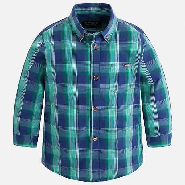 Рубашка Mayoral для мальчикаБлузки и рубашки<br>Характеристики товара:<br><br>• цвет: синий/зеленый<br>• состав ткани: 100% хлопок<br>• сезон: демисезон<br>• особенности модели: школьная<br>• застежка: пуговицы<br>• длинные рукава<br>• страна бренда: Испания<br>• страна изготовитель: Индия<br><br>Стильная детская рубашка сделана из дышащего приятного на ощупь материала. Благодаря продуманному крою детской рубашки создаются комфортные условия для тела. Рубашка с длинным рукавом для мальчика отличается стильным продуманным дизайном.<br><br>Рубашку для мальчика Mayoral (Майорал) можно купить в нашем интернет-магазине.<br><br>Ширина мм: 174<br>Глубина мм: 10<br>Высота мм: 169<br>Вес г: 157<br>Цвет: синий/зеленый<br>Возраст от месяцев: 60<br>Возраст до месяцев: 72<br>Пол: Мужской<br>Возраст: Детский<br>Размер: 116,122,128,134,92,98,104,110<br>SKU: 6934129