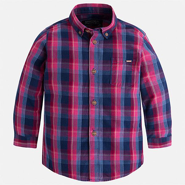 Рубашка Mayoral для мальчикаБлузки и рубашки<br>Характеристики товара:<br><br>• цвет: синий/красный<br>• состав ткани: 100% хлопок<br>• сезон: демисезон<br>• особенности модели: школьная<br>• застежка: пуговицы<br>• длинные рукава<br>• страна бренда: Испания<br>• страна изготовитель: Индия<br><br>Такая рубашка с длинным рукавом для мальчика Mayoral удобно сидит по фигуре. Стильная детская рубашка сделана из натуральной хлопковой ткани. Отличный способ обеспечить ребенку комфорт и аккуратный внешний вид - надеть детскую рубашку от Mayoral. Детская рубашка с длинным рукавом сшита из приятного на ощупь материала. <br><br>Рубашку для мальчика Mayoral (Майорал) можно купить в нашем интернет-магазине.<br><br>Ширина мм: 174<br>Глубина мм: 10<br>Высота мм: 169<br>Вес г: 157<br>Цвет: синий/красный<br>Возраст от месяцев: 18<br>Возраст до месяцев: 24<br>Пол: Мужской<br>Возраст: Детский<br>Размер: 92,134,128,122,116,110,104,98<br>SKU: 6934138
