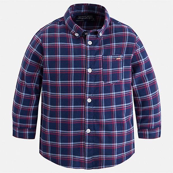 Рубашка Mayoral для мальчикаБлузки и рубашки<br>Характеристики товара:<br><br>• цвет: синий/красный<br>• состав ткани: 100% хлопок<br>• сезон: демисезон<br>• особенности модели: школьная<br>• застежка: пуговицы<br>• длинные рукава<br>• страна бренда: Испания<br>• страна изготовитель: Индия<br><br>Клетчатая рубашка с длинным рукавом для мальчика от Майорал поможет обеспечить ребенку комфорт. Детская рубашка отличается стильным и продуманным дизайном. В рубашке для мальчика от испанской компании Майорал ребенок будет выглядеть модно, а чувствовать себя - комфортно. <br><br>Рубашку для мальчика Mayoral (Майорал) можно купить в нашем интернет-магазине.<br><br>Ширина мм: 174<br>Глубина мм: 10<br>Высота мм: 169<br>Вес г: 157<br>Цвет: синий/красный<br>Возраст от месяцев: 96<br>Возраст до месяцев: 108<br>Пол: Мужской<br>Возраст: Детский<br>Размер: 134,92,128,122,116,110,104,98<br>SKU: 6934147