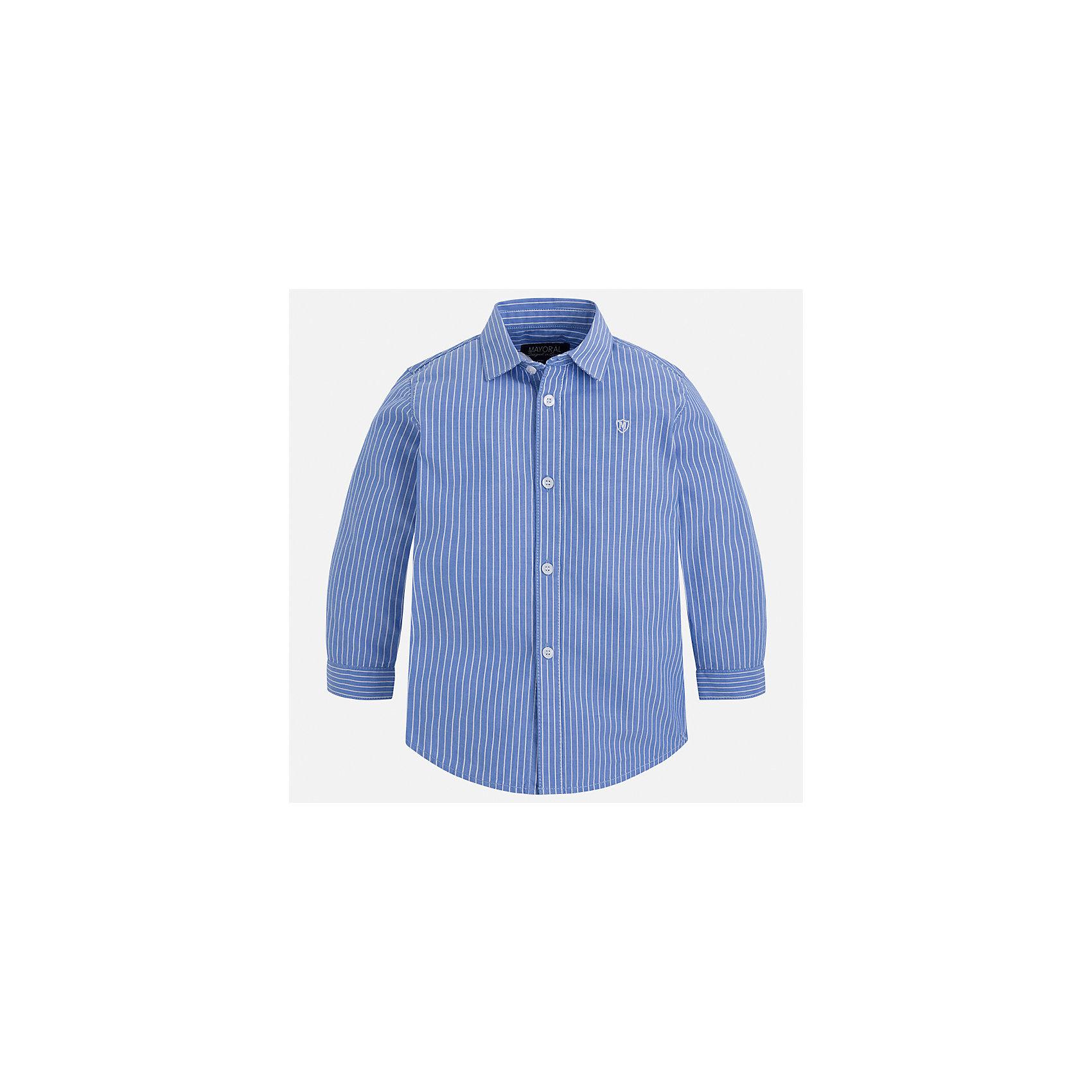 Рубашка Mayoral для мальчикаБлузки и рубашки<br>Характеристики товара:<br><br>• цвет: фиолетовый<br>• состав ткани: 100% хлопок<br>• сезон: демисезон<br>• особенности модели: школьная<br>• застежка: пуговицы<br>• длинные рукава<br>• страна бренда: Испания<br>• страна изготовитель: Индия<br><br>Хлопковая детская рубашка сделана из дышащего приятного на ощупь материала. Благодаря продуманному крою детской рубашки создаются комфортные условия для тела. Рубашка с длинным рукавом для мальчика отличается стильным продуманным дизайном.<br><br>Рубашку для мальчика Mayoral (Майорал) можно купить в нашем интернет-магазине.<br><br>Ширина мм: 174<br>Глубина мм: 10<br>Высота мм: 169<br>Вес г: 157<br>Цвет: лиловый<br>Возраст от месяцев: 96<br>Возраст до месяцев: 108<br>Пол: Мужской<br>Возраст: Детский<br>Размер: 134,98,104,110,116,122,128<br>SKU: 6934156