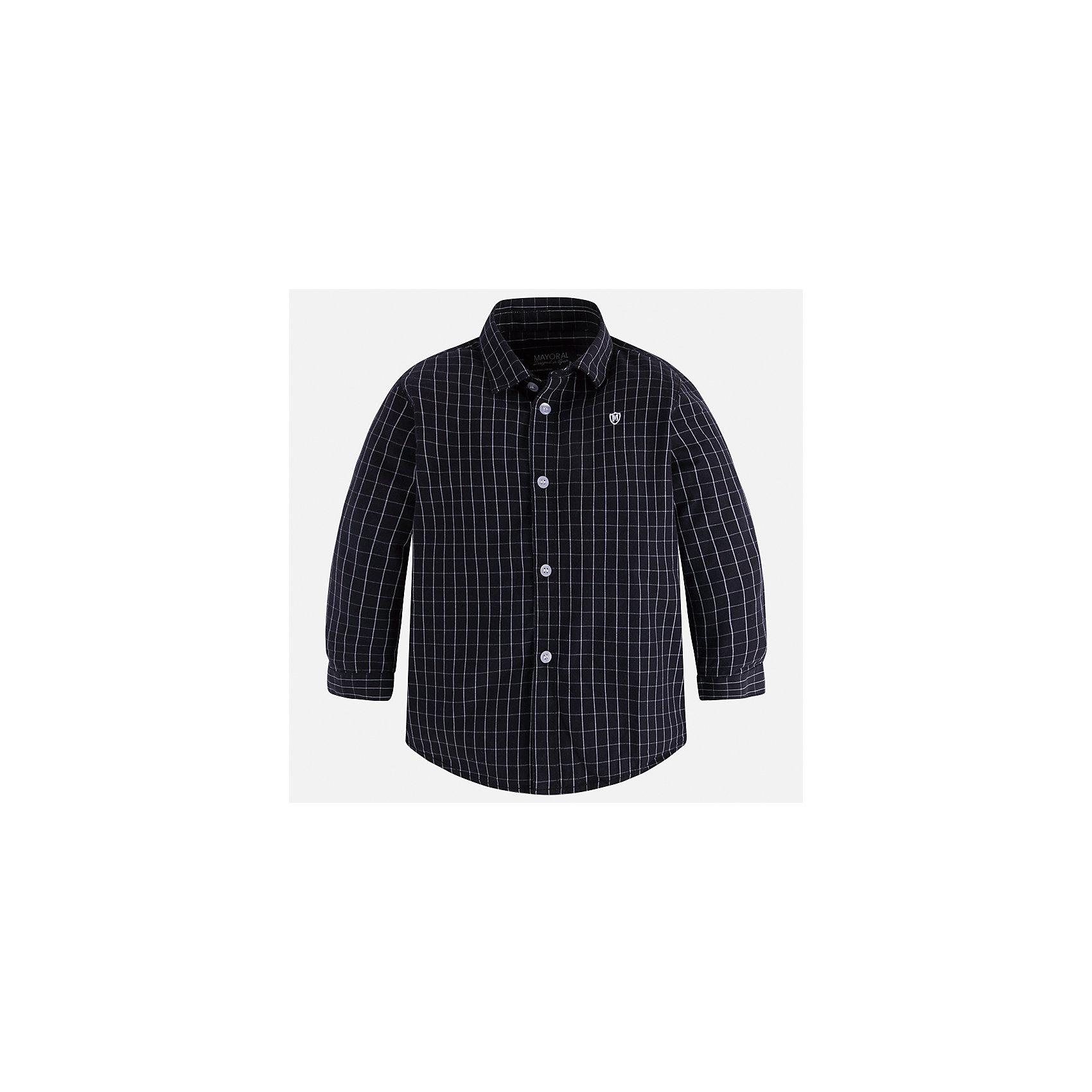 Рубашка Mayoral для мальчикаБлузки и рубашки<br>Характеристики товара:<br><br>• цвет: серый<br>• состав ткани: 100% хлопок<br>• сезон: демисезон<br>• особенности модели: школьная<br>• застежка: пуговицы<br>• длинные рукава<br>• страна бренда: Испания<br>• страна изготовитель: Индия<br><br>Рубашка с длинным рукавом для мальчика Mayoral удобно сидит по фигуре. Стильная детская рубашка сделана из натуральной хлопковой ткани. Отличный способ обеспечить ребенку комфорт и аккуратный внешний вид - надеть детскую рубашку от Mayoral. Детская рубашка с длинным рукавом сшита из приятного на ощупь материала. <br><br>Рубашку для мальчика Mayoral (Майорал) можно купить в нашем интернет-магазине.<br><br>Ширина мм: 174<br>Глубина мм: 10<br>Высота мм: 169<br>Вес г: 157<br>Цвет: серый<br>Возраст от месяцев: 84<br>Возраст до месяцев: 96<br>Пол: Мужской<br>Возраст: Детский<br>Размер: 128,134,104,110,116,122<br>SKU: 6934164