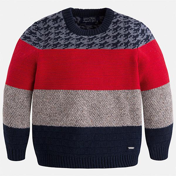 Свитер Mayoral для мальчикаСвитера и кардиганы<br>Характеристики товара:<br><br>• цвет:красный/бежевый/черный<br>• состав ткани: 60% хлопок, 30% полиамид, 10% шерсть<br>• сезон: демисезон<br>• особенности модели: вязаная<br>• манжеты<br>• длинные рукава<br>• страна бренда: Испания<br>• страна изготовитель: Индия<br><br>Вязаный детский свитер сделан из дышащего приятного на ощупь материала. Благодаря продуманному крою детского свитера создаются комфортные условия для тела. Свитер с вышивкой для мальчика отличается стильным продуманным дизайном.<br><br>Свитер для мальчика Mayoral (Майорал) можно купить в нашем интернет-магазине.<br>Ширина мм: 190; Глубина мм: 74; Высота мм: 229; Вес г: 236; Цвет: бежевый/красный; Возраст от месяцев: 36; Возраст до месяцев: 48; Пол: Мужской; Возраст: Детский; Размер: 104,110,116,122,128,134,92,98; SKU: 6934171;