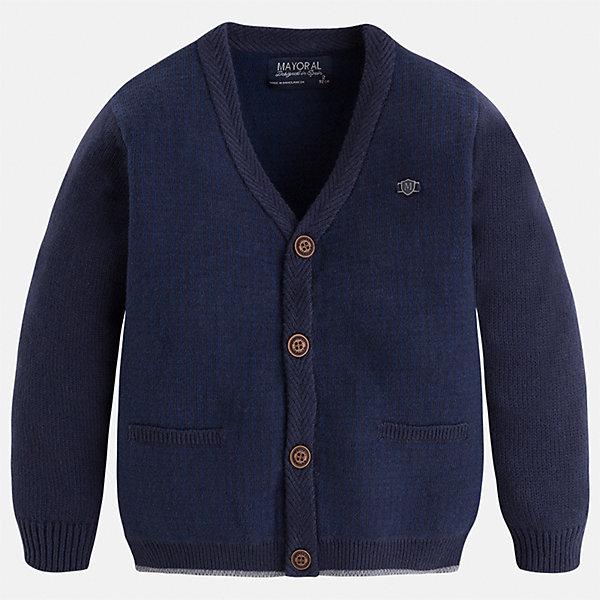 Кардиган для мальчика MayoralСвитера и кардиганы<br>Характеристики товара:<br><br>• цвет: синий<br>• состав ткани: 60% хлопок, 30% полиамид, 10% шерсть<br>• сезон: демисезон<br>• особенности модели: вязаный<br>• застежка: молния<br>• длинные рукава<br>• страна бренда: Испания<br>• страна изготовитель: Индия<br><br>Вязаный детский кардиган сделан из дышащего приятного на ощупь материала. Благодаря продуманному крою детского кардигана создаются комфортные условия для тела. Кардиган с капюшоном для мальчика отличается стильным продуманным дизайном.<br><br>Кардиган для мальчика Mayoral (Майорал) можно купить в нашем интернет-магазине.<br><br>Ширина мм: 190<br>Глубина мм: 74<br>Высота мм: 229<br>Вес г: 236<br>Цвет: синий<br>Возраст от месяцев: 60<br>Возраст до месяцев: 72<br>Пол: Мужской<br>Возраст: Детский<br>Размер: 116,122,128,134,110<br>SKU: 6934308