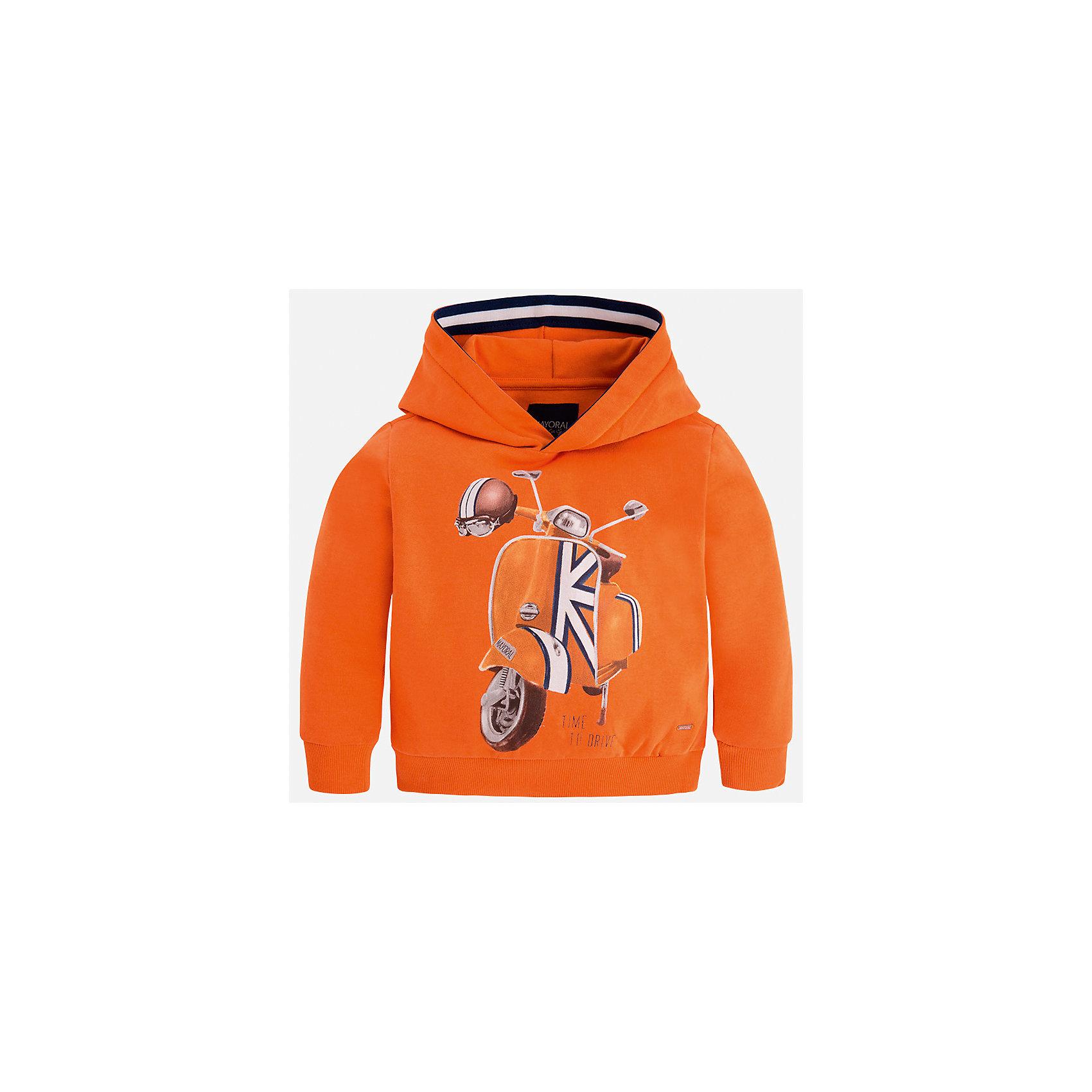 Толстовка Mayoral для мальчикаТолстовки<br>Характеристики товара:<br><br>• цвет: оранжевый<br>• состав ткани: 100% хлопок<br>• сезон: демисезон<br>• особенности модели: капюшон<br>• карманы<br>• длинные рукава<br>• страна бренда: Испания<br>• страна изготовитель: Индия<br><br>Толстовка для мальчика от Майорал поможет обеспечить ребенку комфорт и тепло. Детская толстовка с капюшоном отличается модным и продуманным дизайном. В толстовке для мальчика от испанской компании Майорал ребенок будет выглядеть модно, а чувствовать себя - комфортно. <br><br>Толстовку для мальчика Mayoral (Майорал) можно купить в нашем интернет-магазине.<br><br>Ширина мм: 230<br>Глубина мм: 40<br>Высота мм: 220<br>Вес г: 250<br>Цвет: бежевый<br>Возраст от месяцев: 96<br>Возраст до месяцев: 108<br>Пол: Мужской<br>Возраст: Детский<br>Размер: 134,92,98,104,110,116,122,128<br>SKU: 6934396
