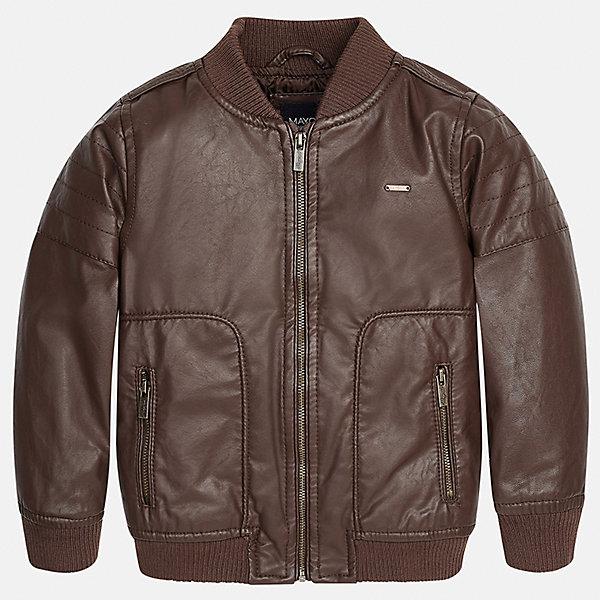 Куртка для мальчика MayoralДемисезонные куртки<br>Характеристики товара:<br><br>• цвет: коричневый<br>• состав ткани: 100% полиуретан<br>• подкладка: 100% полиэстер<br>• утеплитель: 100% полиэстер<br>• сезон: демисезон<br>• температурный режим: от +5 до +15<br>• особенности куртки: на молнии<br>• застежка: молния<br>• страна бренда: Испания<br>• страна изготовитель: Индия<br><br>Детская куртка сделана из материала под кожу. Благодаря качественной ткани детской куртки для мальчика создаются комфортные условия для тела. Коричневая куртка для мальчика отличается стильным продуманным дизайном.<br><br>Куртку для мальчика Mayoral (Майорал) можно купить в нашем интернет-магазине.<br>Ширина мм: 356; Глубина мм: 10; Высота мм: 245; Вес г: 519; Цвет: коричневый; Возраст от месяцев: 36; Возраст до месяцев: 48; Пол: Мужской; Возраст: Детский; Размер: 104,92,134,128,122,116,110,98; SKU: 6934432;