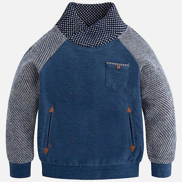 Толстовка Mayoral для мальчикаТолстовки<br>Характеристики товара:<br><br>• цвет: голубой<br>• состав ткани: 62% хлопок, 38% полиэстер<br>• сезон: демисезон<br>• особенности модели: высокий ворот<br>• карманы<br>• длинные рукава<br>• страна бренда: Испания<br>• страна изготовитель: Индия<br><br>Удобная толстовка для мальчика от Майорал поможет обеспечить ребенку комфорт и тепло. Детская толстовка с воротом отличается модным и продуманным дизайном. В толстовке для мальчика от испанской компании Майорал ребенок будет выглядеть модно, а чувствовать себя - комфортно. <br><br>Толстовку для мальчика Mayoral (Майорал) можно купить в нашем интернет-магазине.<br>Ширина мм: 230; Глубина мм: 40; Высота мм: 220; Вес г: 250; Цвет: голубой; Возраст от месяцев: 60; Возраст до месяцев: 72; Пол: Мужской; Возраст: Детский; Размер: 116,92,134,128,122,110,104,98; SKU: 6934520;