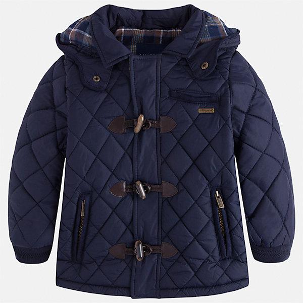 Куртка Mayoral для мальчикаДемисезонные куртки<br>Характеристики товара:<br><br>• цвет: синий<br>• состав ткани: 100% полиамид<br>• подкладка: 100% хлопок<br>• утеплитель: 100% полиэстер<br>• сезон: демисезон<br>• температурный режим: от +5 до +15<br>• особенности куртки: стеганая, с капюшоном<br>• капюшон: несъемный<br>• застежка: молния, пуговицы<br>• страна бренда: Испания<br>• страна изготовитель: Индия<br><br>Легкая демисезонная детская куртка подойдет для переменной погоды. Отличный способ обеспечить ребенку тепло и комфорт - надеть теплую куртку от Mayoral. Детская куртка сшита из приятного на ощупь материала. Куртка для мальчика Mayoral дополнена теплой подкладкой. <br><br>Куртку для мальчика Mayoral (Майорал) можно купить в нашем интернет-магазине.<br>Ширина мм: 356; Глубина мм: 10; Высота мм: 245; Вес г: 519; Цвет: синий; Возраст от месяцев: 18; Возраст до месяцев: 24; Пол: Мужской; Возраст: Детский; Размер: 92,134,98,104,110,116,122,128; SKU: 6934607;