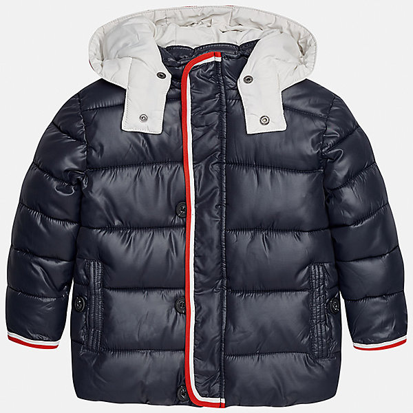 Куртка для мальчика MayoralВерхняя одежда<br>Характеристики товара:<br><br>• цвет: синий<br>• состав ткани: 100% полиэстер<br>• подкладка: 100% полиэстер<br>• утеплитель: 100% полиэстер<br>• сезон: демисезон<br>• температурный режим: от -10 до +10<br>• особенности куртки: дутая, с капюшоном<br>• капюшон: несъемный<br>• застежка: молния<br>• страна бренда: Испания<br>• страна изготовитель: Индия<br><br>Такая демисезонная куртка для мальчика от Майорал поможет обеспечить ребенку комфорт и тепло. Детская куртка с капюшоном отличается модным и продуманным дизайном. В куртке для мальчика от испанской компании Майорал ребенок будет выглядеть модно, а чувствовать себя - комфортно. <br><br>Куртку для мальчика Mayoral (Майорал) можно купить в нашем интернет-магазине.<br><br>Ширина мм: 356<br>Глубина мм: 10<br>Высота мм: 245<br>Вес г: 519<br>Цвет: синий<br>Возраст от месяцев: 96<br>Возраст до месяцев: 108<br>Пол: Мужской<br>Возраст: Детский<br>Размер: 128,134,122,116,110,104,98,92<br>SKU: 6934625
