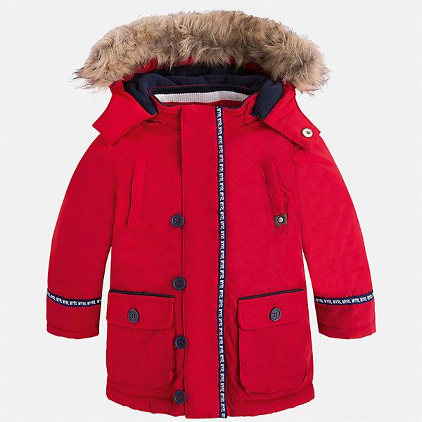 Куртка для мальчика MayoralВерхняя одежда<br>Характеристики товара:<br><br>• цвет: красный<br>• состав ткани: 100% полиэстер<br>• подкладка: 100% полиэстер<br>• утеплитель: 100% полиэстер<br>• сезон: демисезон<br>• температурный режим: от -10 до +10<br>• особенности куртки: с капюшоном<br>• капюшон: с опушкой<br>• застежка: молния<br>• страна бренда: Испания<br>• страна изготовитель: Индия<br><br>Яркая детская куртка сделана из легкого, но теплого материала. Благодаря качественной ткани детской куртки для мальчика создаются комфортные условия для тела. Красная куртка для мальчика отличается стильным продуманным дизайном.<br><br>Куртку для мальчика Mayoral (Майорал) можно купить в нашем интернет-магазине.<br>Ширина мм: 356; Глубина мм: 10; Высота мм: 245; Вес г: 519; Цвет: красный; Возраст от месяцев: 18; Возраст до месяцев: 24; Пол: Мужской; Возраст: Детский; Размер: 92,134,128,122,116,110,104,98; SKU: 6934715;