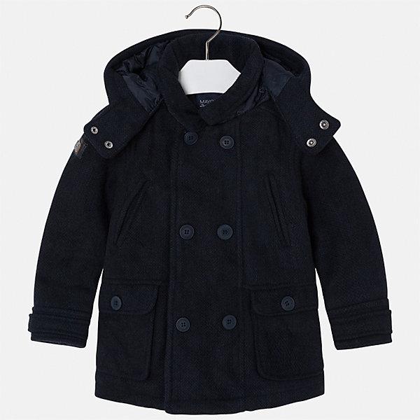 Куртка для мальчика MayoralВерхняя одежда<br>Характеристики товара:<br><br>• цвет: синий<br>• состав ткани: 44% акрил, 44% полиэстер, 4% вискоза, 3% шерсть, 3% полиамид, 2% хлопок<br>• подкладка: 100% полиэстер<br>• утеплитель: 100% полиэстер<br>• сезон: демисезон<br>• температурный режим: от -5 до +10<br>• особенности модели: с капюшоном<br>• отложной воротник<br>• застежка: пуговицы<br>• страна бренда: Испания<br>• страна изготовитель: Индия<br><br>Модная демисезонная куртка для мальчика от Майорал поможет обеспечить ребенку комфорт и тепло. Детская куртка с капюшоном отличается модным и продуманным дизайном. В куртке для мальчика от испанской компании Майорал ребенок будет выглядеть модно, а чувствовать себя - комфортно. <br><br>Куртку для мальчика Mayoral (Майорал) можно купить в нашем интернет-магазине.<br><br>Ширина мм: 356<br>Глубина мм: 10<br>Высота мм: 245<br>Вес г: 519<br>Цвет: синий<br>Возраст от месяцев: 36<br>Возраст до месяцев: 48<br>Пол: Мужской<br>Возраст: Детский<br>Размер: 104,110,116,122,128,134,92,98<br>SKU: 6934751