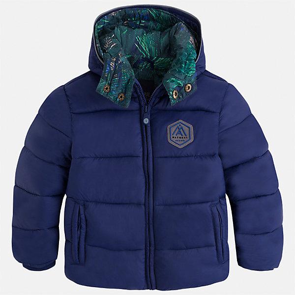 Куртка для мальчика MayoralДемисезонные куртки<br>Характеристики товара:<br><br>• цвет: синий<br>• состав ткани: 100% полиамид<br>• подкладка: 100% полиэстер<br>• утеплитель: 100% полиэстер<br>• сезон: демисезон<br>• температурный режим: от -10 до +10<br>• особенности куртки: дутая, с капюшоном<br>• капюшон: несъемный<br>• застежка: молния<br>• страна бренда: Испания<br>• страна изготовитель: Индия<br><br>Такая демисезонная детская куртка подойдет для переменной погоды. Отличный способ обеспечить ребенку тепло и комфорт - надеть теплую куртку от Mayoral. Детская куртка сшита из приятного на ощупь материала. Куртка для мальчика Mayoral дополнена теплой подкладкой.<br><br>Куртку для мальчика Mayoral (Майорал) можно купить в нашем интернет-магазине.<br><br>Ширина мм: 356<br>Глубина мм: 10<br>Высота мм: 245<br>Вес г: 519<br>Цвет: синий<br>Возраст от месяцев: 18<br>Возраст до месяцев: 24<br>Пол: Мужской<br>Возраст: Детский<br>Размер: 92,134,128,122,116,110,104,98<br>SKU: 6934760