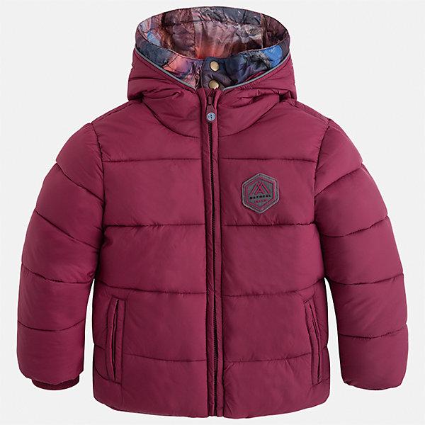 Куртка для мальчика MayoralВерхняя одежда<br>Характеристики товара:<br><br>• цвет: бордовый<br>• состав ткани: 100% полиамид<br>• подкладка: 100% полиэстер<br>• утеплитель: 100% полиэстер<br>• сезон: демисезон<br>• температурный режим: от -10 до +10<br>• особенности куртки: дутая, с капюшоном<br>• капюшон: несъемный<br>• застежка: молния<br>• страна бренда: Испания<br>• страна изготовитель: Индия<br><br>Практичная детская куртка сделана из плотного но теплого материала. Благодаря качественной ткани детской куртки для мальчика создаются комфортные условия для тела. Серая куртка для мальчика отличается стильным продуманным дизайном.<br><br>Куртку для мальчика Mayoral (Майорал) можно купить в нашем интернет-магазине.<br><br>Ширина мм: 356<br>Глубина мм: 10<br>Высота мм: 245<br>Вес г: 519<br>Цвет: бордовый<br>Возраст от месяцев: 96<br>Возраст до месяцев: 108<br>Пол: Мужской<br>Возраст: Детский<br>Размер: 134,92,98,104,110,116,122,128<br>SKU: 6934769