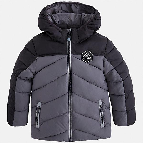 Куртка для мальчика MayoralВерхняя одежда<br>Характеристики товара:<br><br>• цвет: серый<br>• состав ткани: 100% полиамид<br>• подкладка: 100% полиамид<br>• утеплитель: 100% полиэстер<br>• сезон: демисезон<br>• температурный режим: от -10 до +10<br>• особенности модели: с капюшоном, дутая, стеганая<br>• карманы на молнии<br>• застежка: пуговицы<br>• страна бренда: Испания<br>• страна изготовитель: Индия<br><br>Стильная демисезонная детская куртка подойдет для переменной погоды. Отличный способ обеспечить ребенку тепло и комфорт - надеть теплую куртку от Mayoral. Детская куртка сшита из приятного на ощупь материала. Куртка для мальчика Mayoral дополнена теплой подкладкой.<br><br>Куртку для мальчика Mayoral (Майорал) можно купить в нашем интернет-магазине.<br>Ширина мм: 356; Глубина мм: 10; Высота мм: 245; Вес г: 519; Цвет: серый; Возраст от месяцев: 18; Возраст до месяцев: 24; Пол: Мужской; Возраст: Детский; Размер: 92,134,128,122,104,98,116,110; SKU: 6934787;
