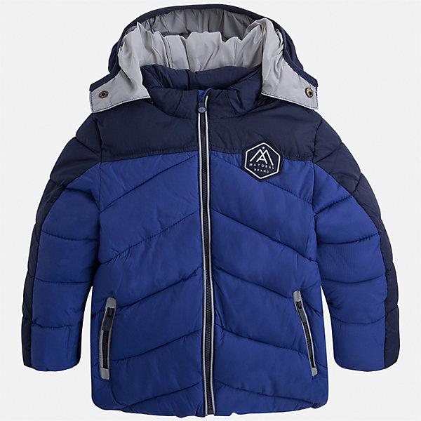 Куртка для мальчика MayoralВерхняя одежда<br>Характеристики товара:<br><br>• цвет: синий<br>• состав ткани: 100% полиамид<br>• подкладка: 100% полиамид<br>• утеплитель: 100% полиэстер<br>• сезон: демисезон<br>• температурный режим: от -10 до +10<br>• особенности модели: с капюшоном, дутая, стеганая<br>• карманы на молнии<br>• застежка: пуговицы<br>• страна бренда: Испания<br>• страна изготовитель: Индия<br><br>Оригинальная детская куртка сделана из легкого, но теплого материала. Благодаря качественной ткани детской куртки для мальчика создаются комфортные условия для тела. Синяя куртка для мальчика отличается стильным продуманным дизайном.<br><br>Куртку для мальчика Mayoral (Майорал) можно купить в нашем интернет-магазине.<br>Ширина мм: 356; Глубина мм: 10; Высота мм: 245; Вес г: 519; Цвет: синий; Возраст от месяцев: 18; Возраст до месяцев: 24; Пол: Мужской; Возраст: Детский; Размер: 92,128,122,116,110,104,98,134; SKU: 6934796;