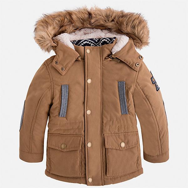 Куртка для мальчика MayoralДемисезонные куртки<br>Характеристики товара:<br><br>• цвет: бежевый<br>• состав ткани: 88% полиэстер, 12% полиамид<br>• подкладка: 100% полиэстер<br>• утеплитель: 100% полиэстер<br>• сезон: демисезон<br>• температурный режим: от -10 до +10<br>• особенности модели: с капюшоном<br>• капюшон: с опушкой, отстегивается<br>• застежка: молния, кнопки<br>• страна бренда: Испания<br>• страна изготовитель: Индия<br><br>Эта демисезонная детская куртка подойдет для переменной погоды. Отличный способ обеспечить ребенку тепло и комфорт - надеть теплую куртку от Mayoral. Детская куртка сшита из приятного на ощупь материала. Куртка для мальчика Mayoral дополнена теплой подкладкой.<br><br>Куртку для мальчика Mayoral (Майорал) можно купить в нашем интернет-магазине.<br>Ширина мм: 356; Глубина мм: 10; Высота мм: 245; Вес г: 519; Цвет: бежевый; Возраст от месяцев: 18; Возраст до месяцев: 24; Пол: Мужской; Возраст: Детский; Размер: 92,134,128,122,116,110,104,98; SKU: 6934814;