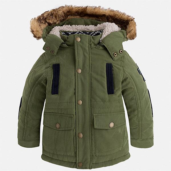 Куртка для мальчика MayoralВерхняя одежда<br>Характеристики товара:<br><br>• цвет: зеленый<br>• состав ткани: 88% полиэстер, 12% полиамид<br>• подкладка: 100% полиэстер<br>• утеплитель: 100% полиэстер<br>• сезон: демисезон<br>• температурный режим: от -10 до +10<br>• особенности модели: с капюшоном<br>• капюшон: с опушкой, отстегивается<br>• застежка: молния, кнопки<br>• страна бренда: Испания<br>• страна изготовитель: Индия<br><br>Зеленая детская куртка сделана из легкого, но теплого материала. Благодаря качественной ткани детской куртки для мальчика создаются комфортные условия для тела. Эта куртка для мальчика отличается стильным продуманным дизайном.<br><br>Куртку для мальчика Mayoral (Майорал) можно купить в нашем интернет-магазине.<br>Ширина мм: 356; Глубина мм: 10; Высота мм: 245; Вес г: 519; Цвет: зеленый; Возраст от месяцев: 96; Возраст до месяцев: 108; Пол: Мужской; Возраст: Детский; Размер: 134,116,110,104,98,92,128,122; SKU: 6934823;