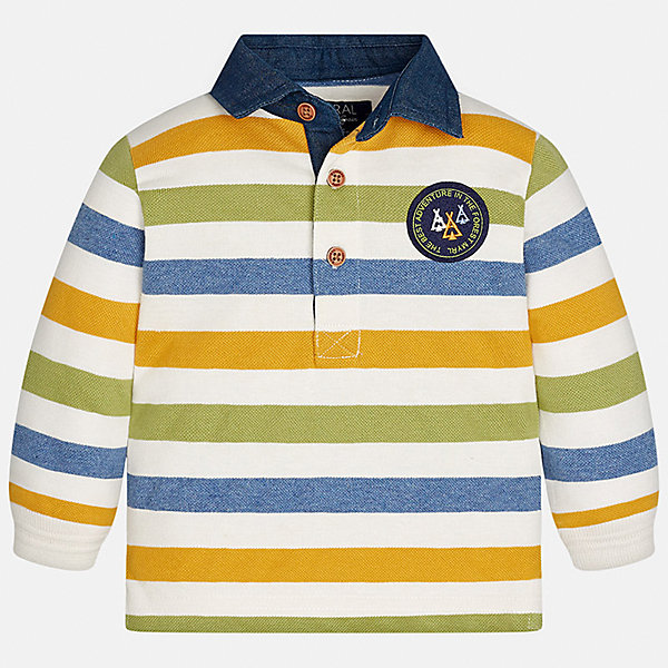 Футболка-поло с длинным рукавом Mayoral для мальчикаФутболки с длинным рукавом<br>Характеристики товара:<br><br>• цвет: белый/голубой/оранжевый/зеленый<br>• состав ткани: 100% хлопок<br>• сезон: демисезон<br>• особенности модели: отложной воротник<br>• застежка: пуговицы<br>• длинные рукава<br>• страна бренда: Испания<br>• страна изготовитель: Индия<br><br>Эта рубашка-поло с длинным рукавом для мальчика Mayoral удобно сидит по фигуре. Стильная детская рубашка-поло с длинным рукавом сделана из натуральной хлопковой ткани. Отличный способ обеспечить ребенку тепло и комфорт - надеть детскую Рубашку-поло с длинным рукавом от Mayoral. Детская рубашка-поло с длинным рукавом сшита из приятного на ощупь материала. <br><br>Рубашку-поло с длинным рукавом для мальчика Mayoral (Майорал) можно купить в нашем интернет-магазине.<br>Ширина мм: 230; Глубина мм: 40; Высота мм: 220; Вес г: 250; Цвет: разноцветный; Возраст от месяцев: 12; Возраст до месяцев: 18; Пол: Мужской; Возраст: Детский; Размер: 86,98,92,80,74; SKU: 6935012;