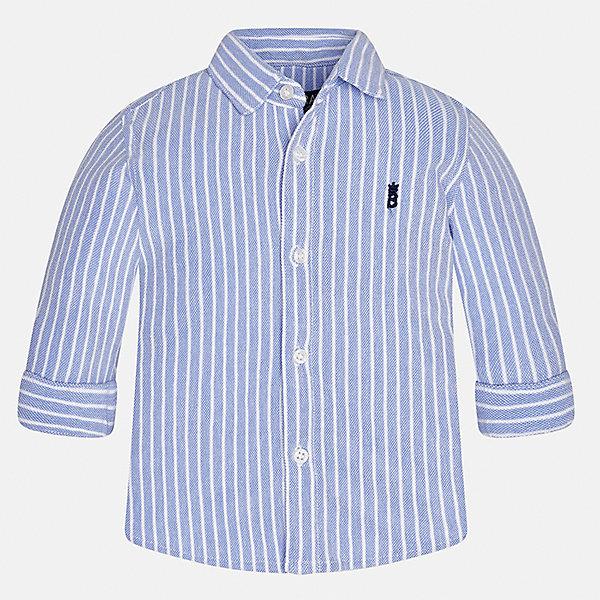 Рубашка Mayoral для мальчикаБлузки и рубашки<br>Характеристики товара:<br><br>• цвет: голубой<br>• состав ткани: 100% хлопок<br>• сезон: демисезон<br>• особенности модели: школьная<br>• застежка: пуговицы<br>• длинные рукава<br>• страна бренда: Испания<br>• страна изготовитель: Индия<br><br>Стильная рубашка с длинным рукавом для мальчика от Майорал поможет обеспечить ребенку комфорт. Детская рубашка отличается стильным и продуманным дизайном. В рубашке для мальчика от испанской компании Майорал ребенок будет выглядеть модно, а чувствовать себя - комфортно. <br><br>Рубашку для мальчика Mayoral (Майорал) можно купить в нашем интернет-магазине.<br>Ширина мм: 174; Глубина мм: 10; Высота мм: 169; Вес г: 157; Цвет: голубой; Возраст от месяцев: 24; Возраст до месяцев: 36; Пол: Мужской; Возраст: Детский; Размер: 98,80,92,86; SKU: 6935034;