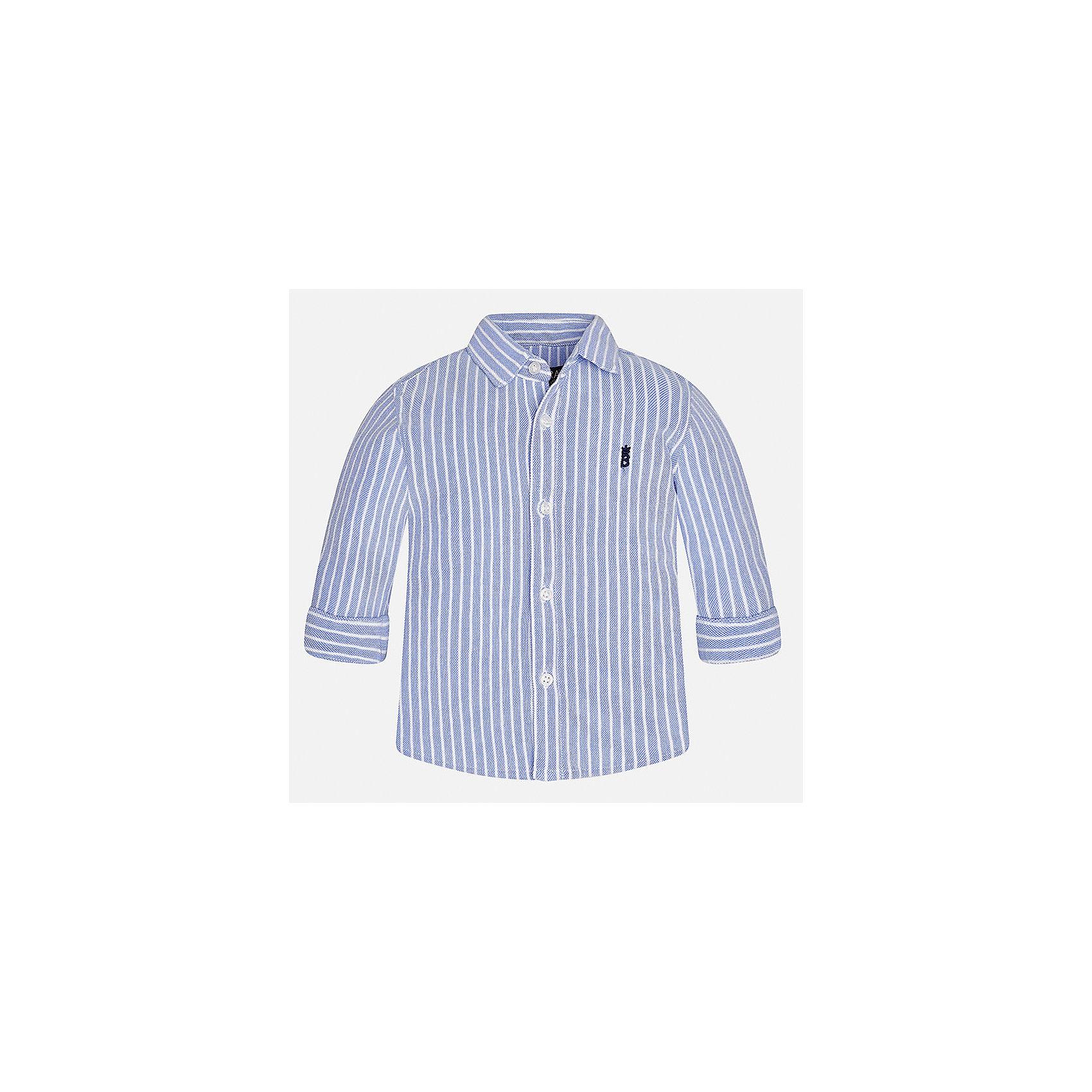 Рубашка Mayoral для мальчикаБлузки и рубашки<br>Характеристики товара:<br><br>• цвет: фиолетовый<br>• состав ткани: 100% хлопок<br>• сезон: демисезон<br>• особенности модели: школьная<br>• застежка: пуговицы<br>• длинные рукава<br>• страна бренда: Испания<br>• страна изготовитель: Индия<br><br>Стильная рубашка с длинным рукавом для мальчика от Майорал поможет обеспечить ребенку комфорт. Детская рубашка отличается стильным и продуманным дизайном. В рубашке для мальчика от испанской компании Майорал ребенок будет выглядеть модно, а чувствовать себя - комфортно. <br><br>Рубашку для мальчика Mayoral (Майорал) можно купить в нашем интернет-магазине.<br><br>Ширина мм: 174<br>Глубина мм: 10<br>Высота мм: 169<br>Вес г: 157<br>Цвет: лиловый<br>Возраст от месяцев: 24<br>Возраст до месяцев: 36<br>Пол: Мужской<br>Возраст: Детский<br>Размер: 98,80,86,92<br>SKU: 6935034