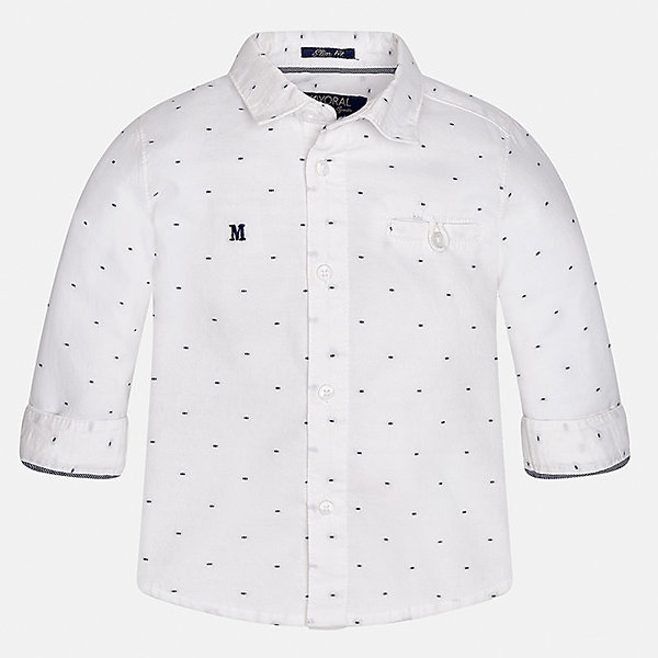 Рубашка для мальчика MayoralБлузки и рубашки<br>Характеристики товара:<br><br>• цвет: белый<br>• состав ткани: 100% хлопок<br>• сезон: демисезон<br>• особенности модели: школьная<br>• застежка: пуговицы<br>• длинные рукава<br>• страна бренда: Испания<br>• страна изготовитель: Индия<br><br>Белая детская рубашка сделана из дышащего приятного на ощупь материала. Благодаря продуманному крою детской рубашки создаются комфортные условия для тела. Рубашка с длинным рукавом для мальчика отличается стильным продуманным дизайном.<br><br>Рубашку для мальчика Mayoral (Майорал) можно купить в нашем интернет-магазине.<br><br>Ширина мм: 174<br>Глубина мм: 10<br>Высота мм: 169<br>Вес г: 157<br>Цвет: белый<br>Возраст от месяцев: 12<br>Возраст до месяцев: 15<br>Пол: Мужской<br>Возраст: Детский<br>Размер: 80,98,92,86<br>SKU: 6935039