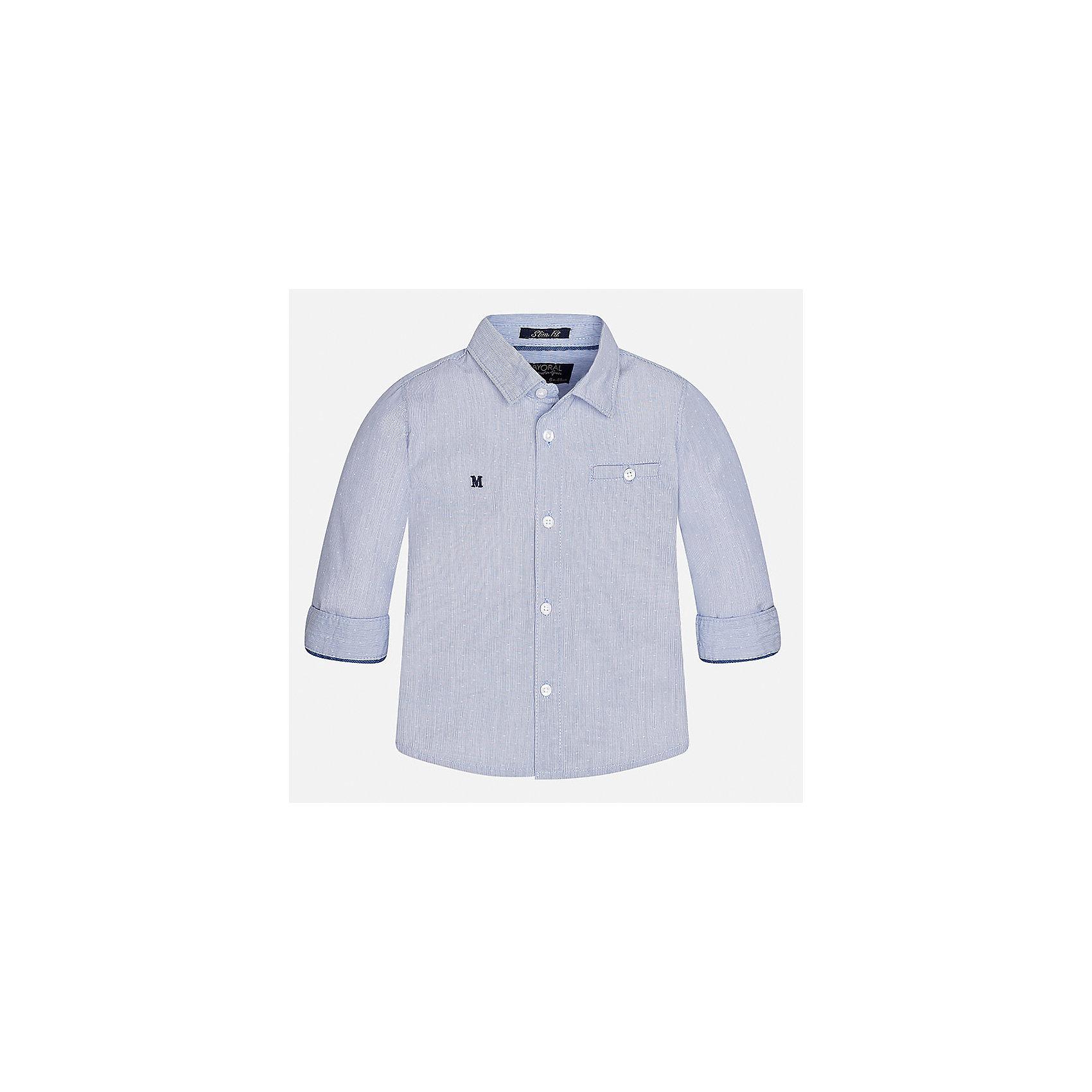 Рубашка Mayoral для мальчикаБлузки и рубашки<br>Характеристики товара:<br><br>• цвет: фиолетовый<br>• состав ткани: 100% хлопок<br>• сезон: демисезон<br>• особенности модели: школьная<br>• застежка: пуговицы<br>• длинные рукава<br>• страна бренда: Испания<br>• страна изготовитель: Индия<br><br>Модная рубашка с длинным рукавом для мальчика Mayoral удобно сидит по фигуре. Стильная детская рубашка сделана из натуральной хлопковой ткани. Отличный способ обеспечить ребенку комфорт и аккуратный внешний вид - надеть детскую рубашку от Mayoral. Детская рубашка с длинным рукавом сшита из приятного на ощупь материала. <br><br>Рубашку для мальчика Mayoral (Майорал) можно купить в нашем интернет-магазине.<br><br>Ширина мм: 174<br>Глубина мм: 10<br>Высота мм: 169<br>Вес г: 157<br>Цвет: лиловый<br>Возраст от месяцев: 24<br>Возраст до месяцев: 36<br>Пол: Мужской<br>Возраст: Детский<br>Размер: 98,80,86,92<br>SKU: 6935044