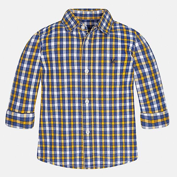 Рубашка Mayoral для мальчикаБлузки и рубашки<br>Характеристики товара:<br><br>• цвет:синий/оранжевый<br>• состав ткани: 100% хлопок<br>• сезон: демисезон<br>• особенности модели: школьная<br>• застежка: пуговицы<br>• длинные рукава<br>• страна бренда: Испания<br>• страна изготовитель: Индия<br><br>Клетчатая рубашка с длинным рукавом для мальчика от Майорал поможет обеспечить ребенку комфорт. Детская рубашка отличается стильным и продуманным дизайном. В рубашке для мальчика от испанской компании Майорал ребенок будет выглядеть модно, а чувствовать себя - комфортно. <br><br>Рубашку для мальчика Mayoral (Майорал) можно купить в нашем интернет-магазине.<br><br>Ширина мм: 174<br>Глубина мм: 10<br>Высота мм: 169<br>Вес г: 157<br>Цвет: синий/оранжевый<br>Возраст от месяцев: 12<br>Возраст до месяцев: 15<br>Пол: Мужской<br>Возраст: Детский<br>Размер: 80,74,86,92,98<br>SKU: 6935049