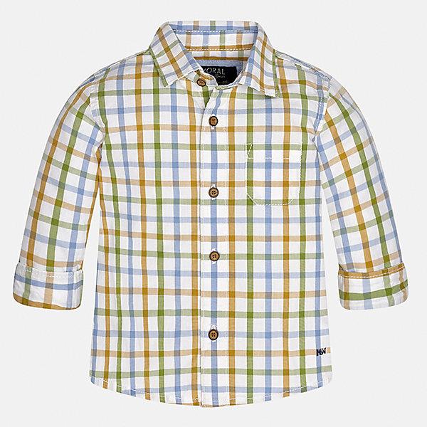 Рубашка Mayoral для мальчикаБлузки и рубашки<br>Характеристики товара:<br><br>• цвет: разноцветный<br>• состав ткани: 100% хлопок<br>• сезон: демисезон<br>• особенности модели: школьная<br>• застежка: пуговицы<br>• длинные рукава<br>• страна бренда: Испания<br>• страна изготовитель: Индия<br><br>Клетчатая рубашка с длинным рукавом для мальчика Mayoral удобно сидит по фигуре. Стильная детская рубашка сделана из натуральной хлопковой ткани. Отличный способ обеспечить ребенку комфорт и аккуратный внешний вид - надеть детскую рубашку от Mayoral. Детская рубашка с длинным рукавом сшита из приятного на ощупь материала. <br><br>Рубашку для мальчика Mayoral (Майорал) можно купить в нашем интернет-магазине.<br><br>Ширина мм: 174<br>Глубина мм: 10<br>Высота мм: 169<br>Вес г: 157<br>Цвет: разноцветный<br>Возраст от месяцев: 6<br>Возраст до месяцев: 9<br>Пол: Мужской<br>Возраст: Детский<br>Размер: 74,98,80,86,92<br>SKU: 6935075