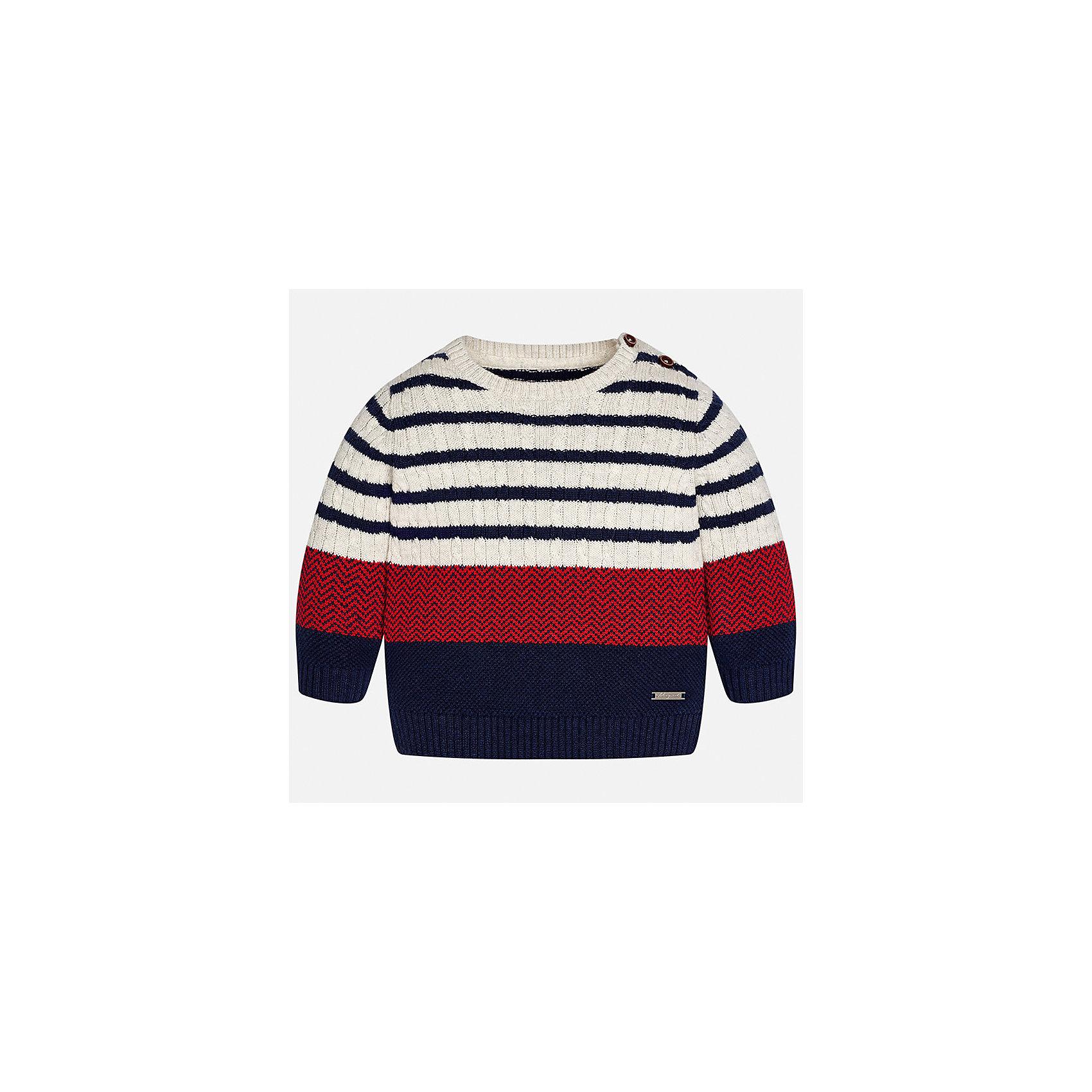 Свитер для мальчика MayoralТолстовки, свитера, кардиганы<br>Характеристики товара:<br><br>• цвет: красный<br>• состав ткани: 60% хлопок, 30% полиамид, 10% шерсть<br>• сезон: демисезон<br>• особенности модели: вязаный рисунок<br>• манжеты<br>• длинные рукава<br>• страна бренда: Испания<br>• страна изготовитель: Индия<br><br>Оригинальный свитер для мальчика Mayoral удобно сидит по фигуре. Этот детский свитер сделан из приятного на ощупь материала. Отличный способ обеспечить ребенку комфорт и аккуратный внешний вид - надеть детский свитер от Mayoral. Свитер для мальчика украшен оригинальным декором. <br><br>Свитер для мальчика Mayoral (Майорал) можно купить в нашем интернет-магазине.<br><br>Ширина мм: 190<br>Глубина мм: 74<br>Высота мм: 229<br>Вес г: 236<br>Цвет: бежевый<br>Возраст от месяцев: 24<br>Возраст до месяцев: 36<br>Пол: Мужской<br>Возраст: Детский<br>Размер: 98,74,80,86,92<br>SKU: 6935093