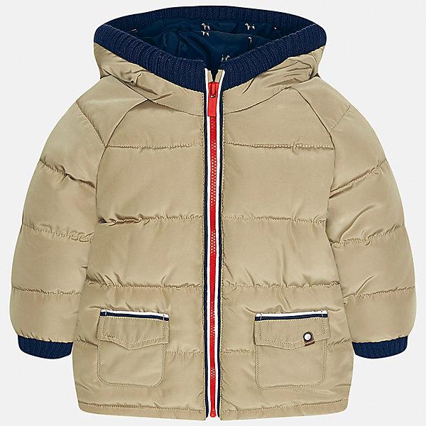 Куртка для мальчика MayoralВерхняя одежда<br>Характеристики товара:<br><br>• цвет: бежевый<br>• состав ткани: 100% полиэстер<br>• подкладка: 100% полиэстер<br>• утеплитель: 100% полиэстер<br>• сезон: демисезон<br>• температурный режим: от -10 до +10<br>• особенности модели: с капюшоном, дутая<br>• капюшон: несъемный<br>• застежка: молния<br>• страна бренда: Испания<br>• страна изготовитель: Индия<br><br>Такая детская куртка сделана из легкого, но теплого материала. Благодаря качественной ткани детской куртки для мальчика создаются комфортные условия для тела. Эта куртка для мальчика отличается стильным продуманным дизайном.<br><br>Куртку для мальчика Mayoral (Майорал) можно купить в нашем интернет-магазине.<br><br>Ширина мм: 356<br>Глубина мм: 10<br>Высота мм: 245<br>Вес г: 519<br>Цвет: бежевый<br>Возраст от месяцев: 12<br>Возраст до месяцев: 15<br>Пол: Мужской<br>Возраст: Детский<br>Размер: 80,98,92,86<br>SKU: 6935155