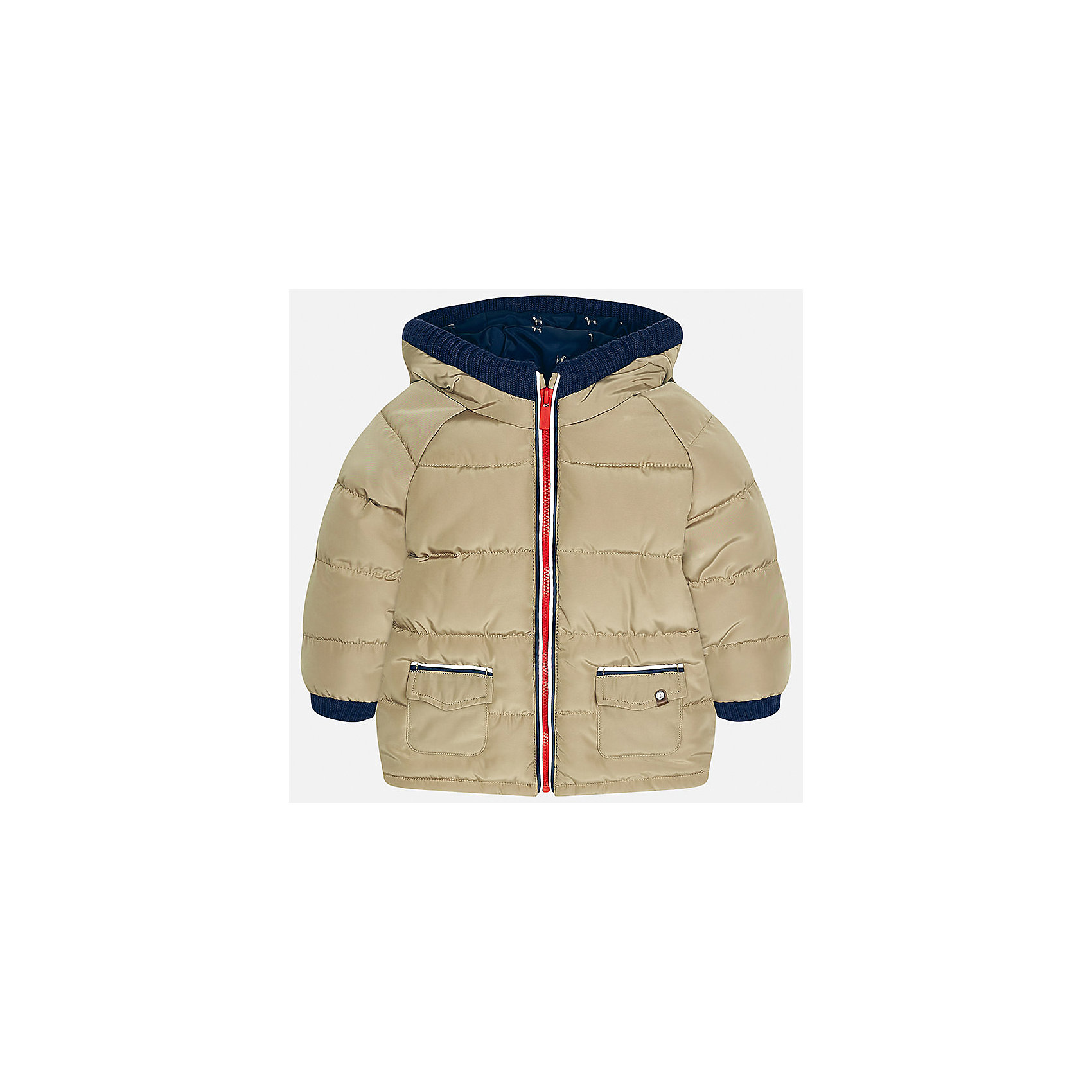 Куртка для мальчика MayoralВерхняя одежда<br>Характеристики товара:<br><br>• цвет: бежевый<br>• состав ткани: 100% полиэстер<br>• подкладка: 100% полиэстер<br>• утеплитель: 100% полиэстер<br>• сезон: демисезон<br>• температурный режим: от -10 до +10<br>• особенности модели: с капюшоном, дутая<br>• капюшон: несъемный<br>• застежка: молния<br>• страна бренда: Испания<br>• страна изготовитель: Индия<br><br>Такая детская куртка сделана из легкого, но теплого материала. Благодаря качественной ткани детской куртки для мальчика создаются комфортные условия для тела. Эта куртка для мальчика отличается стильным продуманным дизайном.<br><br>Куртку для мальчика Mayoral (Майорал) можно купить в нашем интернет-магазине.<br><br>Ширина мм: 356<br>Глубина мм: 10<br>Высота мм: 245<br>Вес г: 519<br>Цвет: бежевый<br>Возраст от месяцев: 24<br>Возраст до месяцев: 36<br>Пол: Мужской<br>Возраст: Детский<br>Размер: 98,80,86,92<br>SKU: 6935155