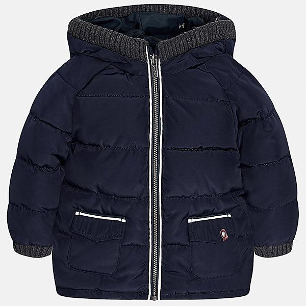 Куртка для мальчика MayoralВерхняя одежда<br>Характеристики товара:<br><br>• цвет: синий<br>• состав ткани: 100% полиэстер<br>• подкладка: 100% полиэстер<br>• утеплитель: 100% полиэстер<br>• сезон: демисезон<br>• температурный режим: от -10 до +10<br>• особенности модели: с капюшоном, дутая<br>• капюшон: несъемный<br>• застежка: молния<br>• страна бренда: Испания<br>• страна изготовитель: Индия<br><br>Теплая демисезонная куртка для мальчика от Майорал поможет обеспечить ребенку комфорт и тепло. Детская куртка с капюшоном отличается модным и продуманным дизайном. В куртке для мальчика от испанской компании Майорал ребенок будет выглядеть модно, а чувствовать себя - комфортно. <br><br>Куртку для мальчика Mayoral (Майорал) можно купить в нашем интернет-магазине.<br>Ширина мм: 356; Глубина мм: 10; Высота мм: 245; Вес г: 519; Цвет: синий; Возраст от месяцев: 12; Возраст до месяцев: 18; Пол: Мужской; Возраст: Детский; Размер: 86,80,98,92; SKU: 6935160;
