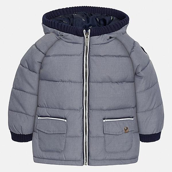 Куртка для мальчика MayoralВерхняя одежда<br>Характеристики товара:<br><br>• цвет: серый<br>• состав ткани: 100% полиэстер<br>• подкладка: 100% полиэстер<br>• утеплитель: 100% полиэстер<br>• сезон: демисезон<br>• температурный режим: от -10 до +10<br>• особенности модели: с капюшоном, дутая<br>• капюшон: съемный<br>• застежка: молния, пуговицы<br>• страна бренда: Испания<br>• страна изготовитель: Индия<br><br>Серая демисезонная детская куртка подойдет для переменной погоды. Отличный способ обеспечить ребенку тепло и комфорт - надеть теплую куртку от Mayoral. Детская куртка сшита из приятного на ощупь материала. Куртка для мальчика Mayoral дополнена теплой подкладкой.<br><br>Куртку для мальчика Mayoral (Майорал) можно купить в нашем интернет-магазине.<br>Ширина мм: 356; Глубина мм: 10; Высота мм: 245; Вес г: 519; Цвет: серый; Возраст от месяцев: 12; Возраст до месяцев: 15; Пол: Мужской; Возраст: Детский; Размер: 80,98,86,92; SKU: 6935165;